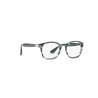 2af40d4f70f9f Shop Persol Men s PO3122V 1051 48 Stripped Grey Rectangle Plastic Eyeglasses  - Free Shipping Today - Overstock.com - 17962323