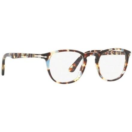 b6180c00cb Shop Persol Men s PO3143V 1058 47 Havana Azure Brown Rectangle Plastic  Eyeglasses - Free Shipping Today - Overstock - 17962560