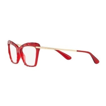 Shop Dolce   Gabbana Women s DG5025 3147 53 Transparent Bordeaux Cateye  Plastic Eyeglasses - Free Shipping Today - Overstock.com - 17962921 bbcb244649