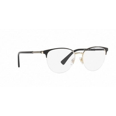 bcb9d01263 Shop Versace Women s VE1247 1252 52 Black Pale Gold Rectangle Metal  Eyeglasses - Free Shipping Today - Overstock - 17963130