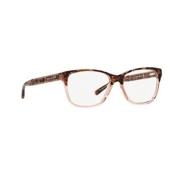 9751559b18 Shop Michael Kors Women s MK4044 3251 52 Pink Tort Graphic Square Plastic  Eyeglasses - Free Shipping Today - Overstock - 17963241