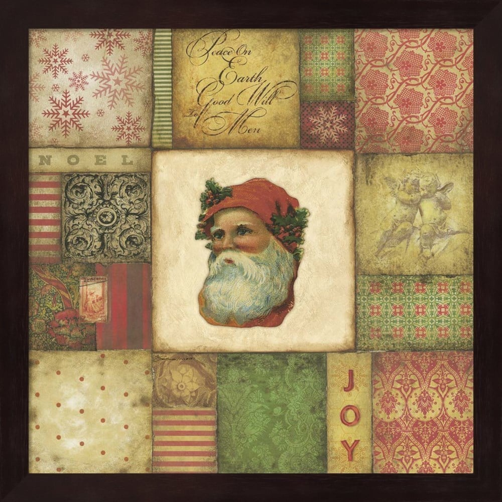 Santa Tapestry Framed Wall Art - Free Shipping Today - Overstock.com ...
