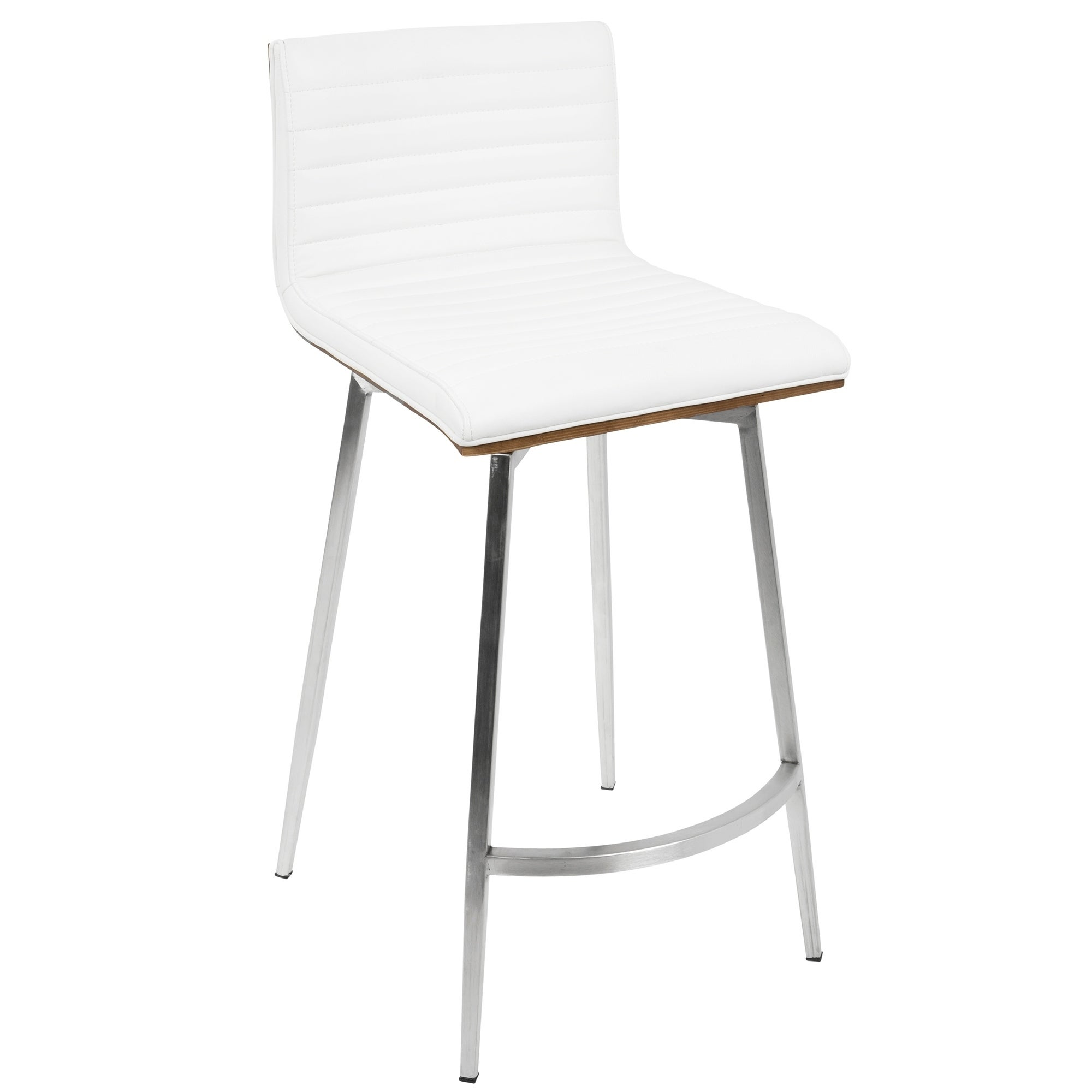 shop mason contemporary swivel counter stool upholstered in faux