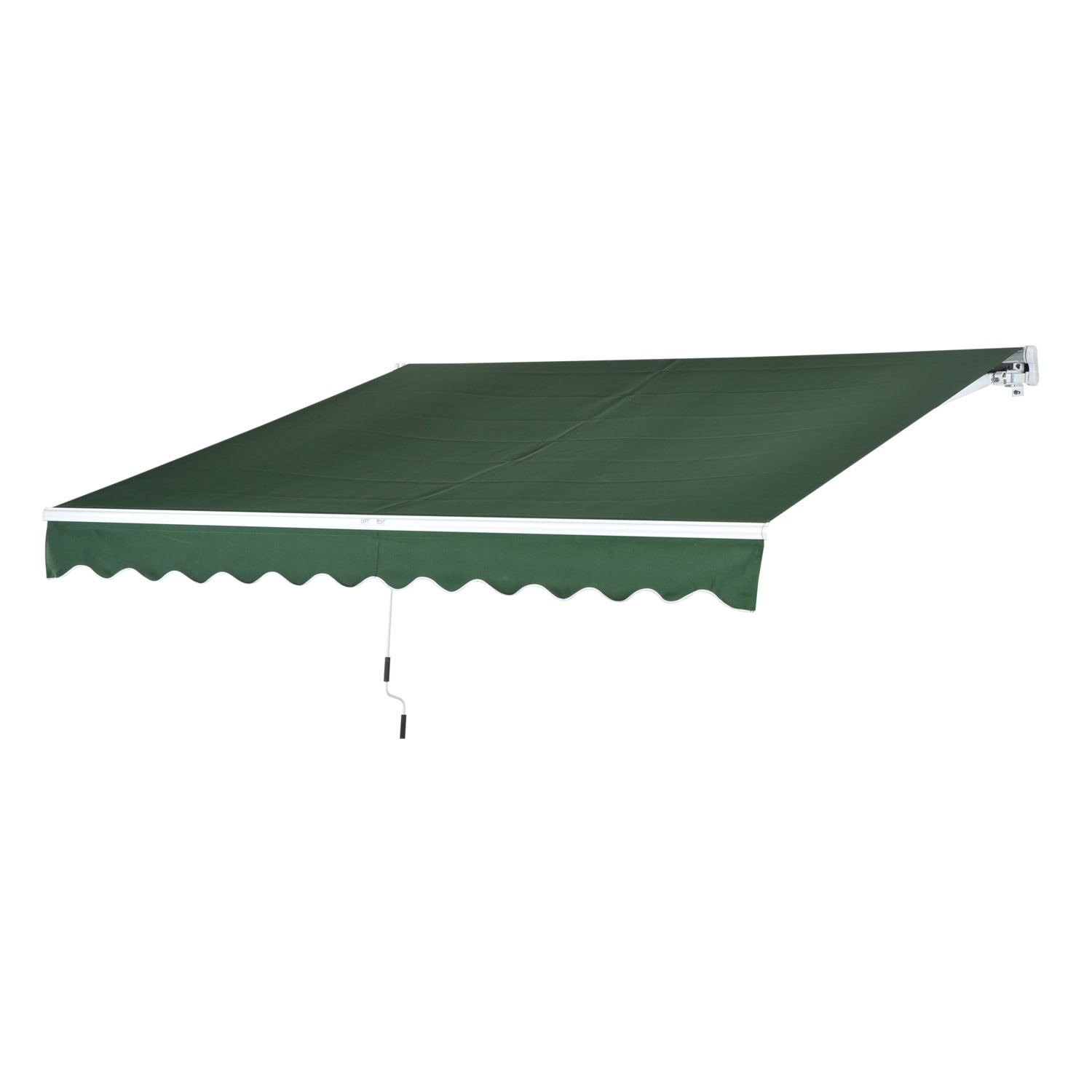 green amazon com sun retractable manual awning garden outsunny shade outdoor dp patio