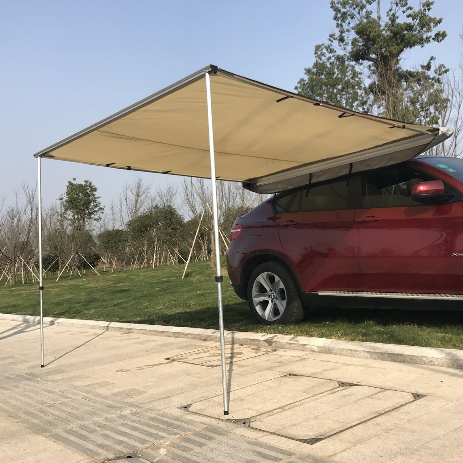 p awning sun red drop picture canopy outsunny arm window shelter manual of retractable shade