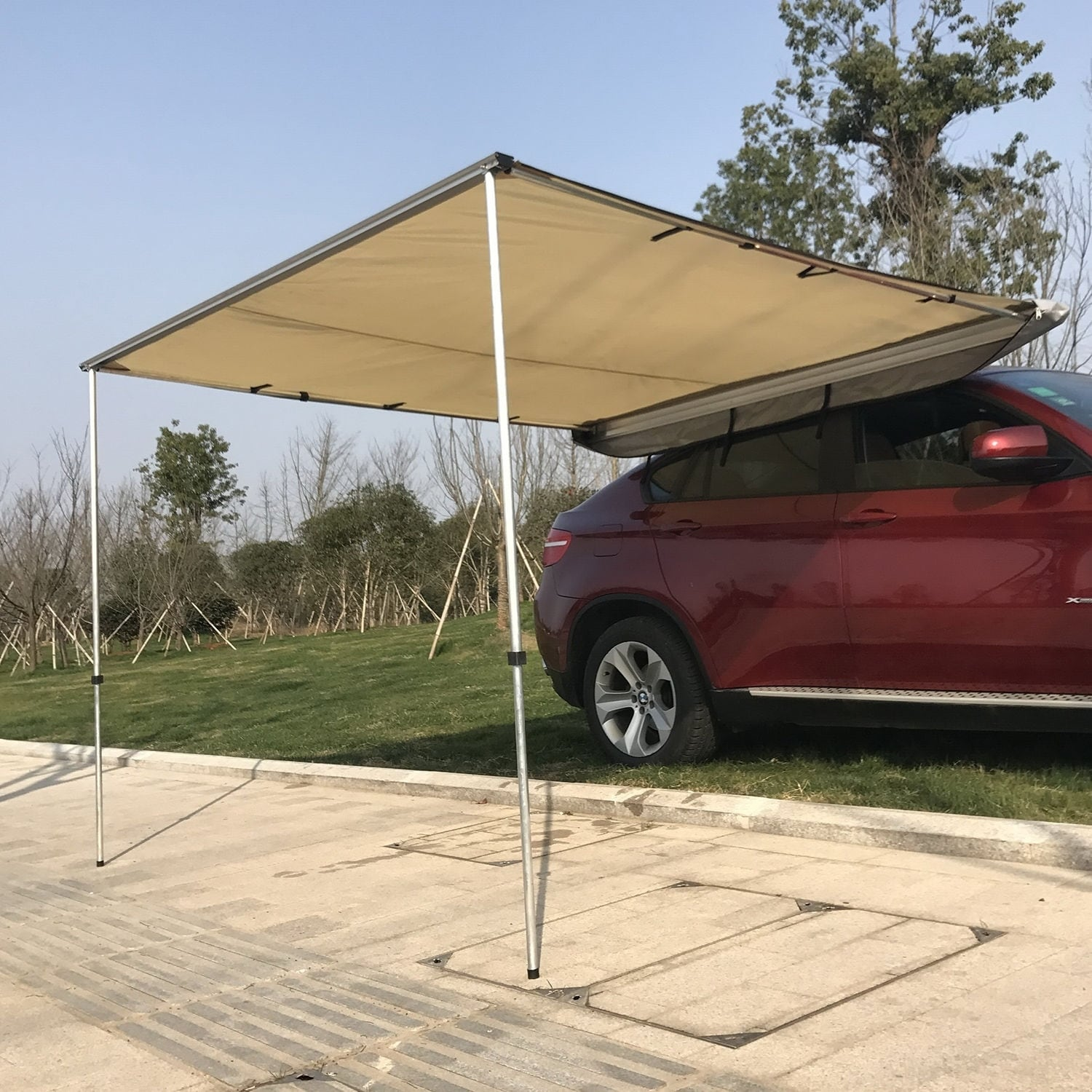 patio dci outsunny m x awning garden shade cover lawn co canopy door aosom green uk shelter