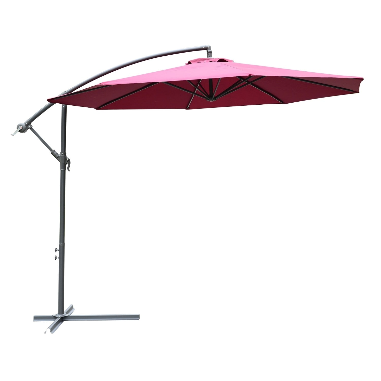 Shop Outsunny 10 Steel Hanging Offset Patio Umbrella With Stand