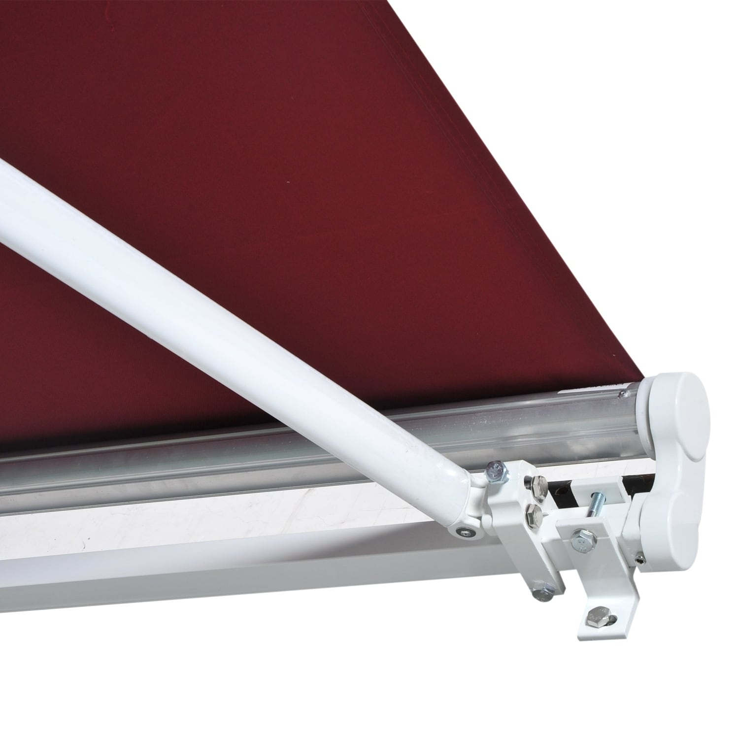 window living shelter drop manual arm sunshade awning outsunny outdoor door canopy retractable