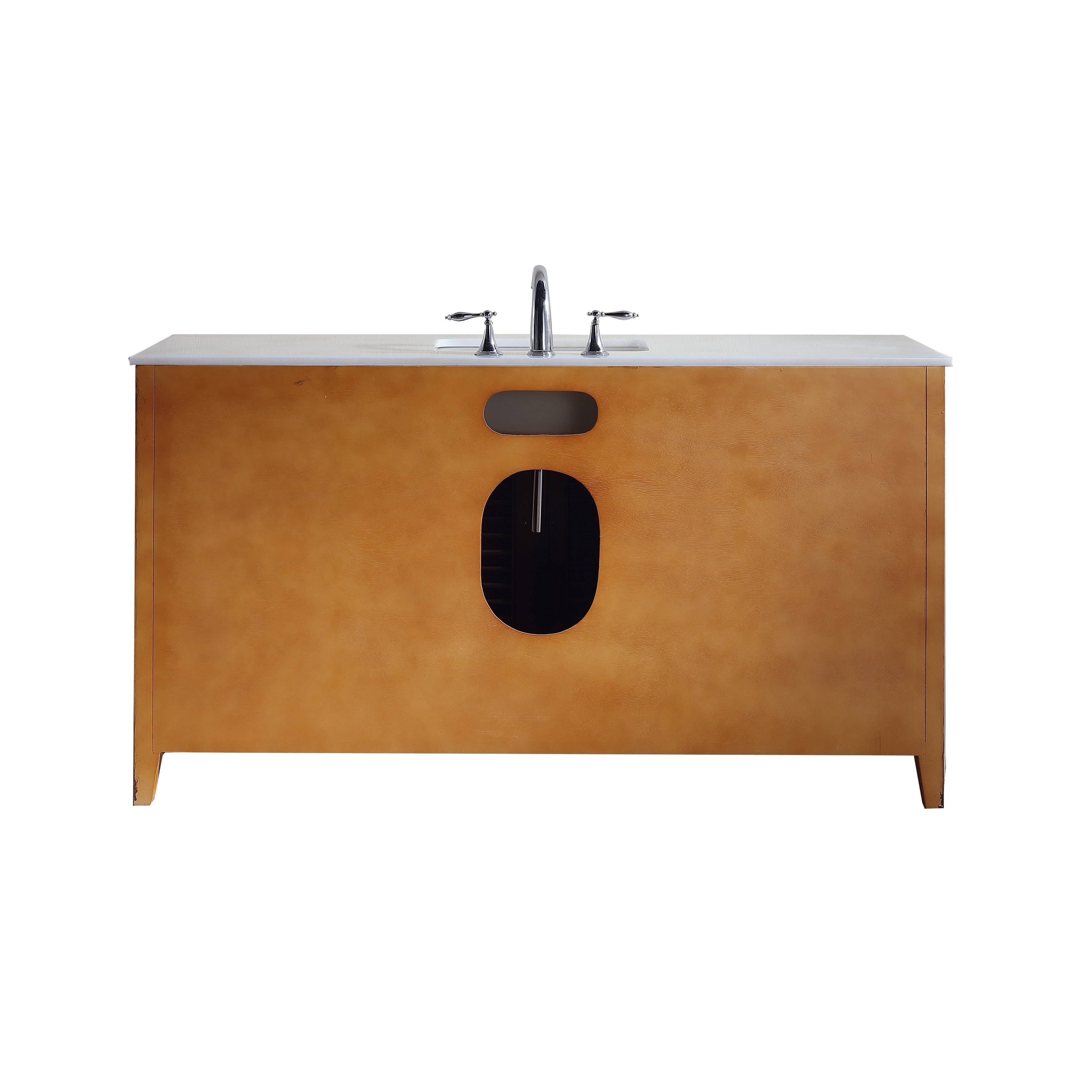 Modetti Palm Beach 60 Inch Single Sink Bathroom Vanity With Marble Top Free Shipping Today 17967905