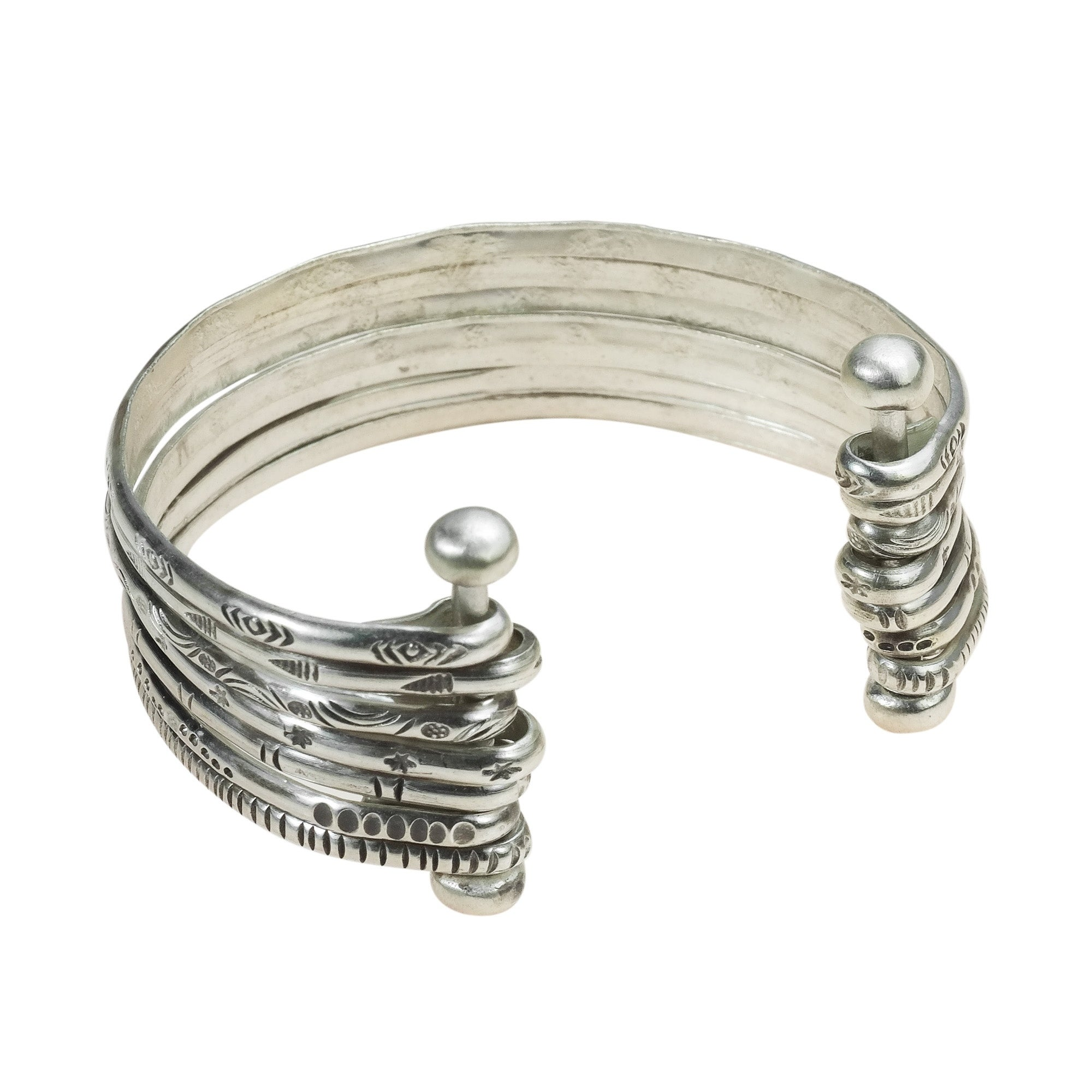cuff length p mm polished silver bangle sterling bangles bracelet width infinity weight grams