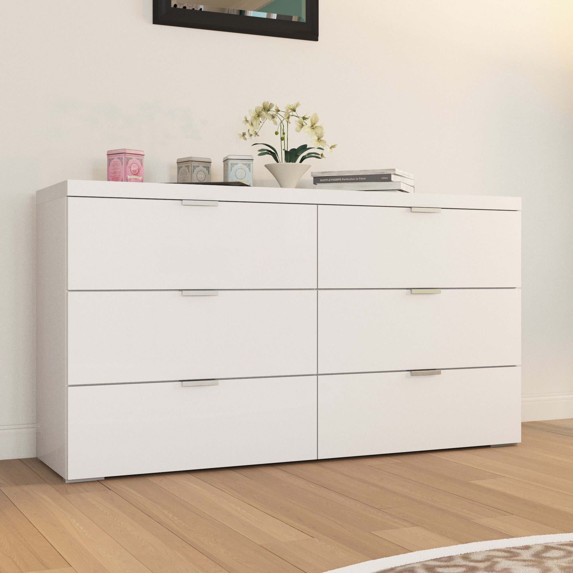 narrow chest with drawers classic drawer high white p gloss space of