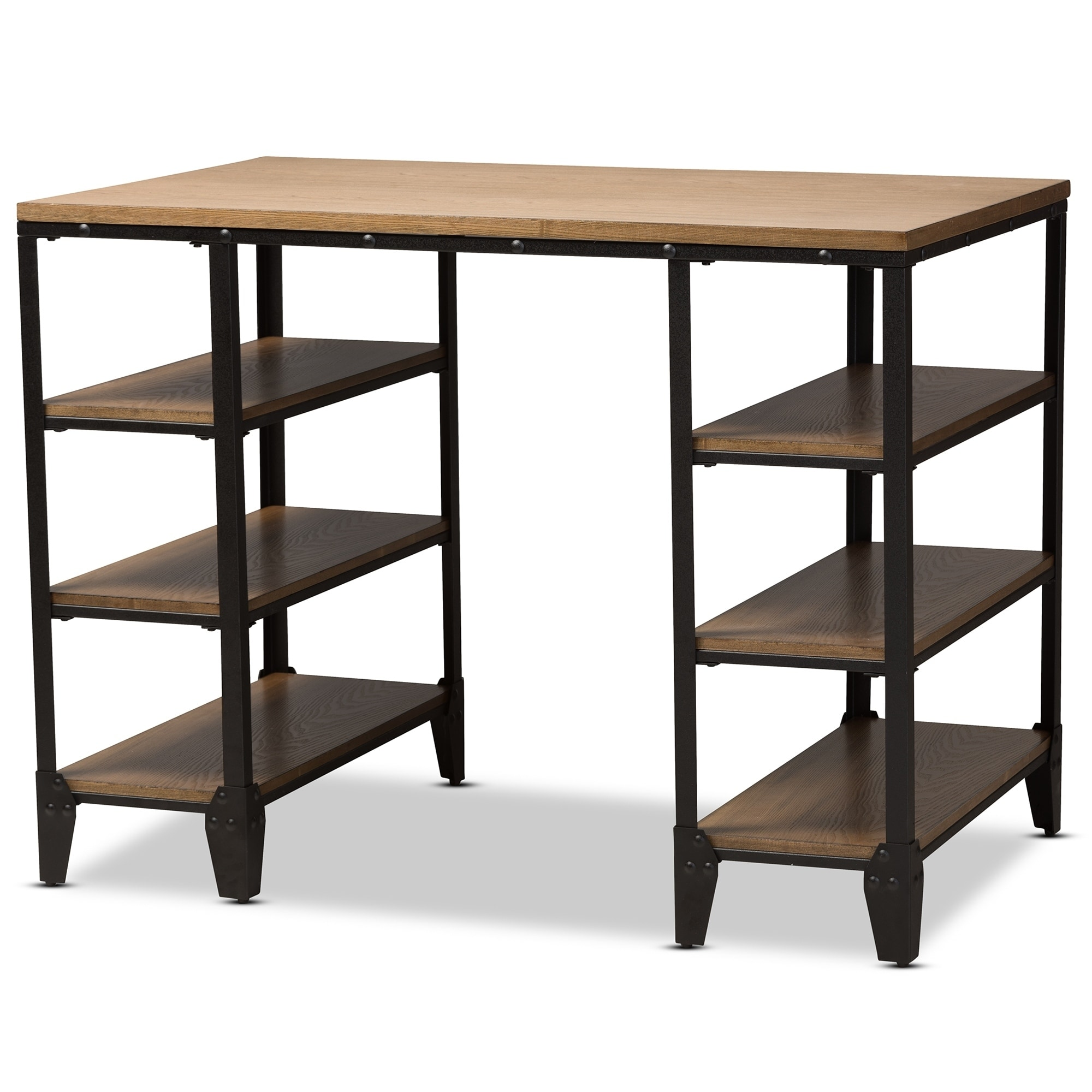 desk multiple ip and metal metro finishes walmart mainstays com wood