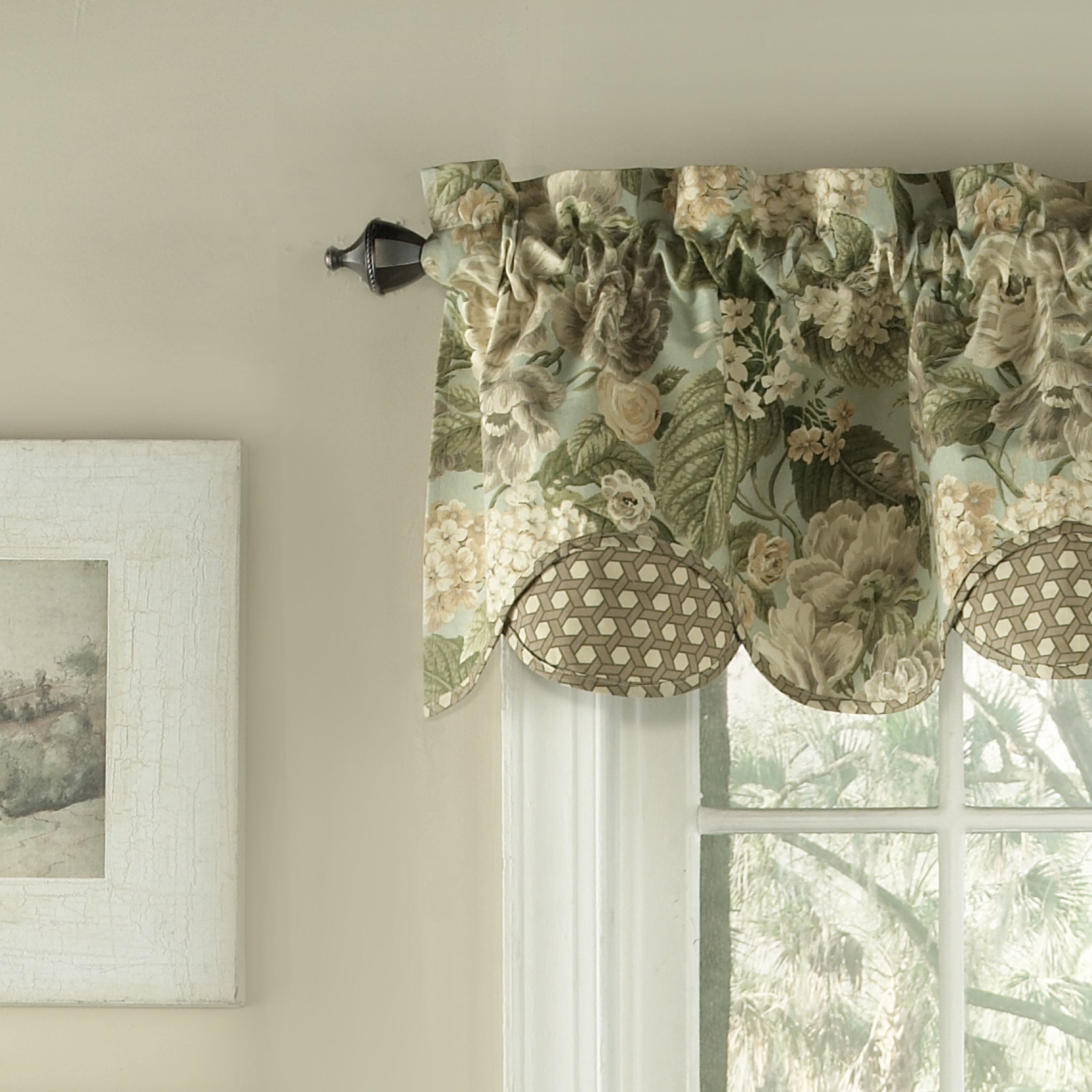 Shop Waverly Garden Glory Scalloped Floral Valance   60x16   Free Shipping  On Orders Over $45   Overstock.com   17974420