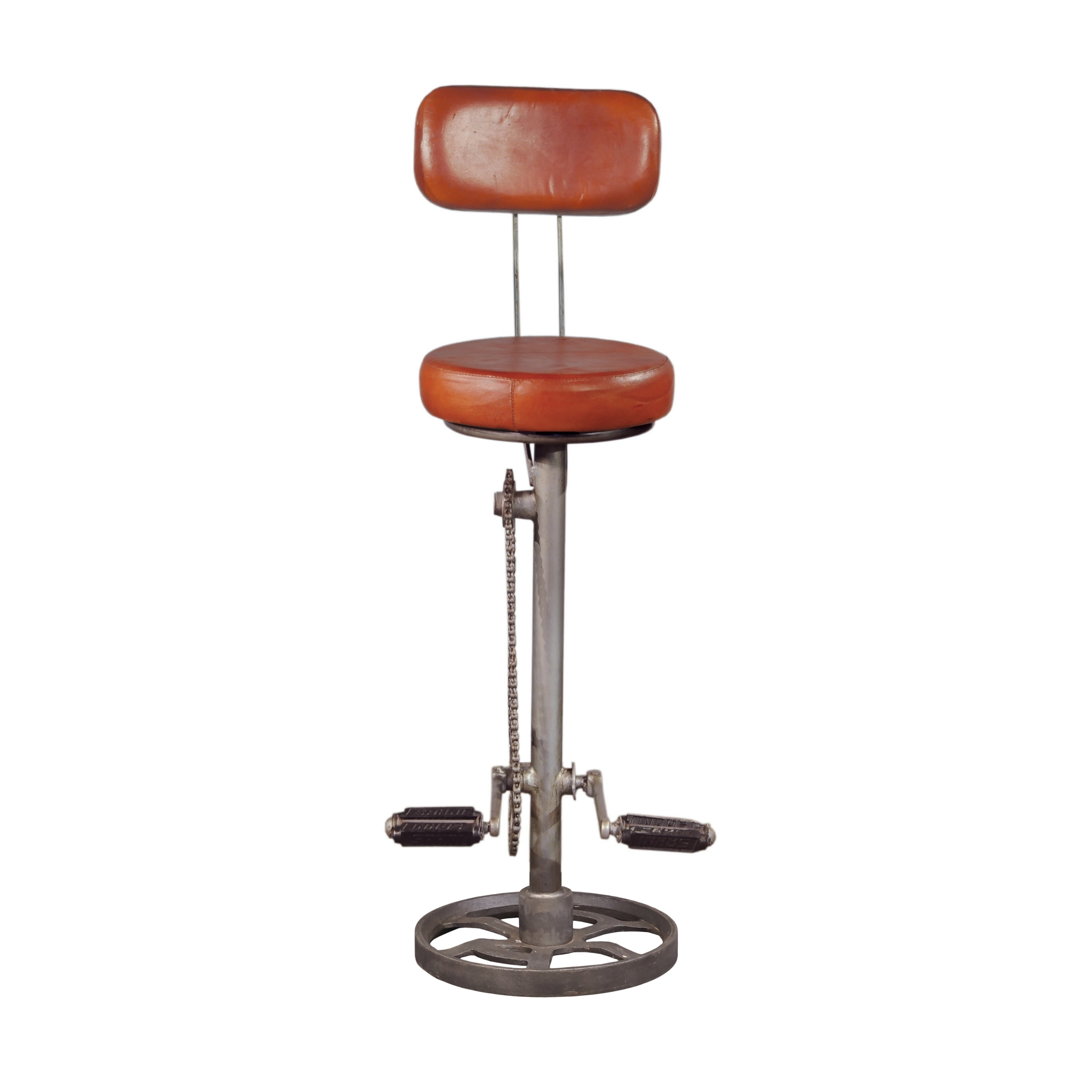 Kent Brown Leather Metal Adjule Bicycle Pedal Footrest Bar Stool Free Shipping Today Com