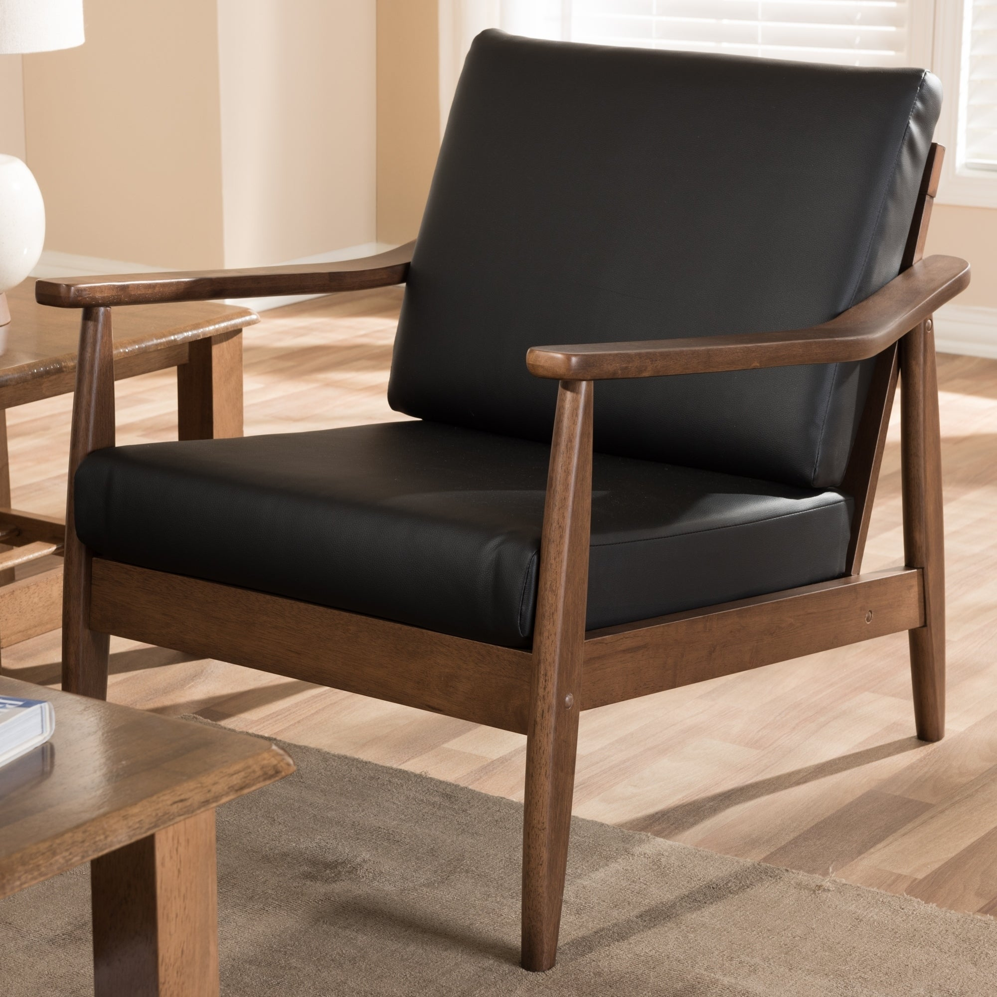 Shop Mid Century Lounge Chair By Baxton Studio On Sale Free