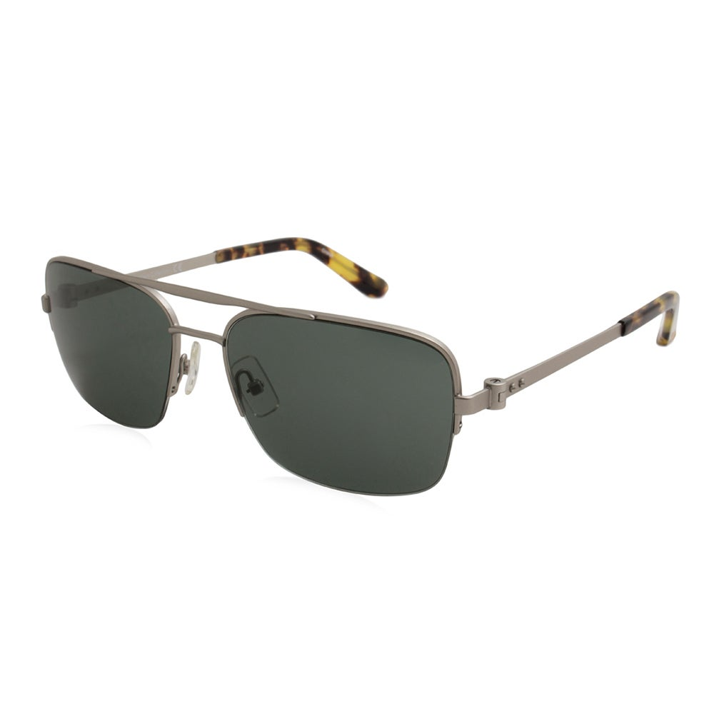 87ccdef0e4aa Shop Calvin Klein/CK8001S-045/Men's/Silver Frame/Green Lens/Sunglasses -  Free Shipping Today - Overstock - 17976023