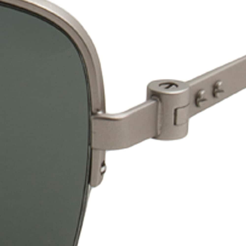 0b5a9ecf87 Shop Calvin Klein CK8001S-045 Men s Silver Frame Green Lens Sunglasses -  Free Shipping Today - Overstock - 17976023