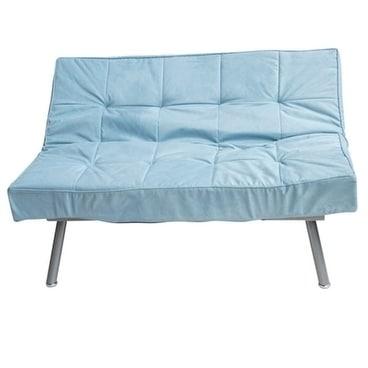 Cozy Sofa Silver Blue Mini Futon Free Shipping Today Com 17976154