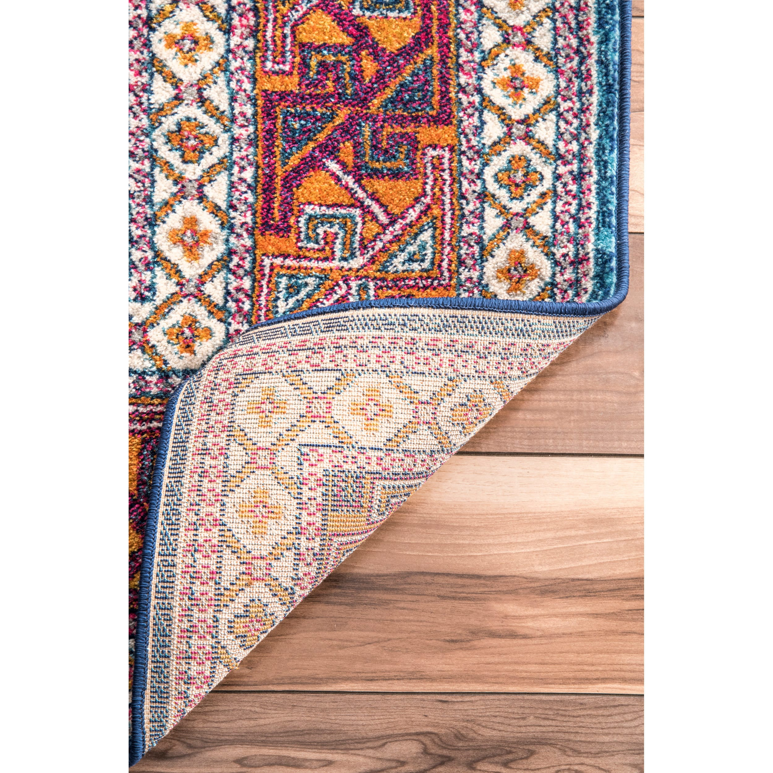 bohemian bright upcycled colors multicolor round ship product foot ready hippie rug to
