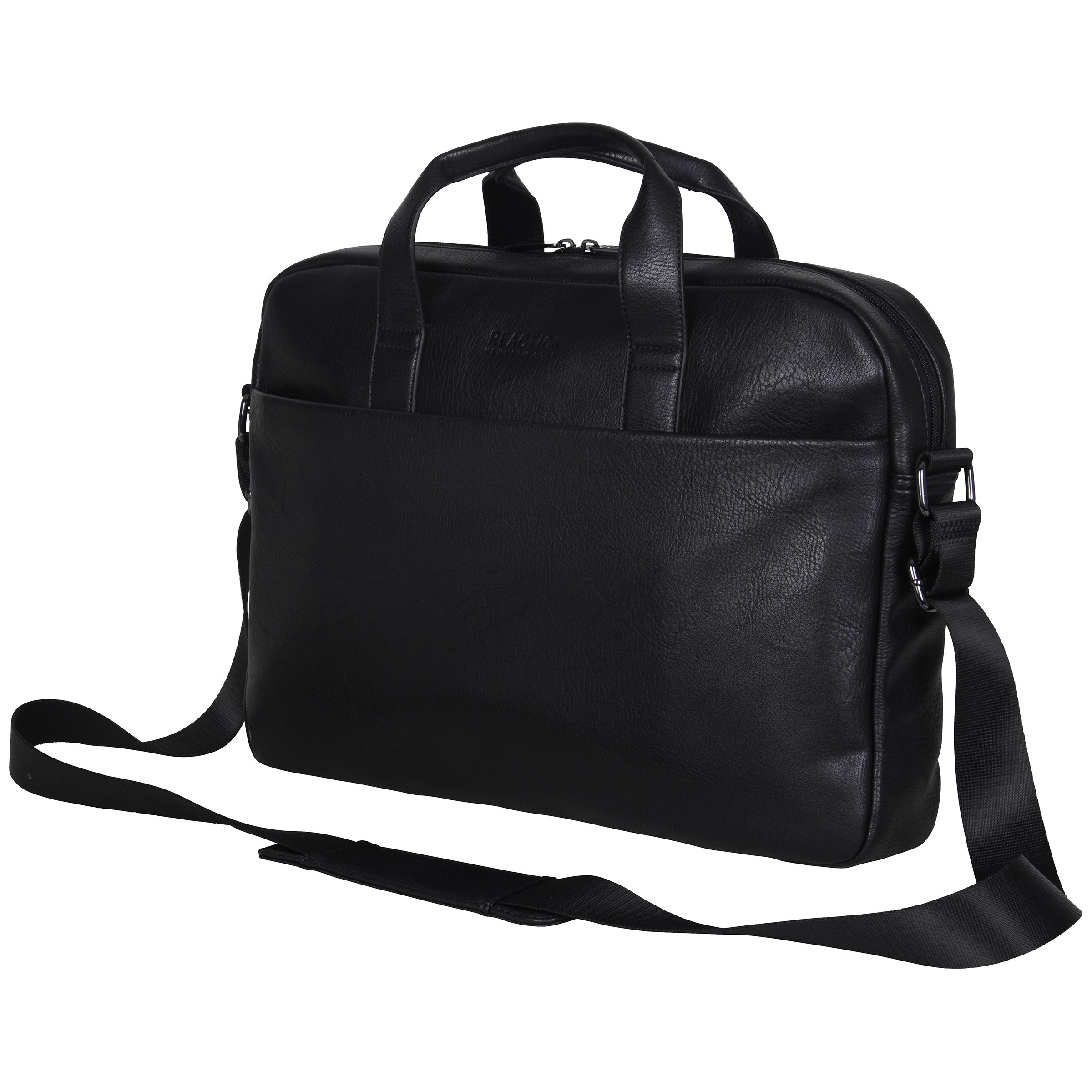 Kenneth Cole Reaction Pebbled Faux Leather Top Zip 15.6-inch Laptop ...