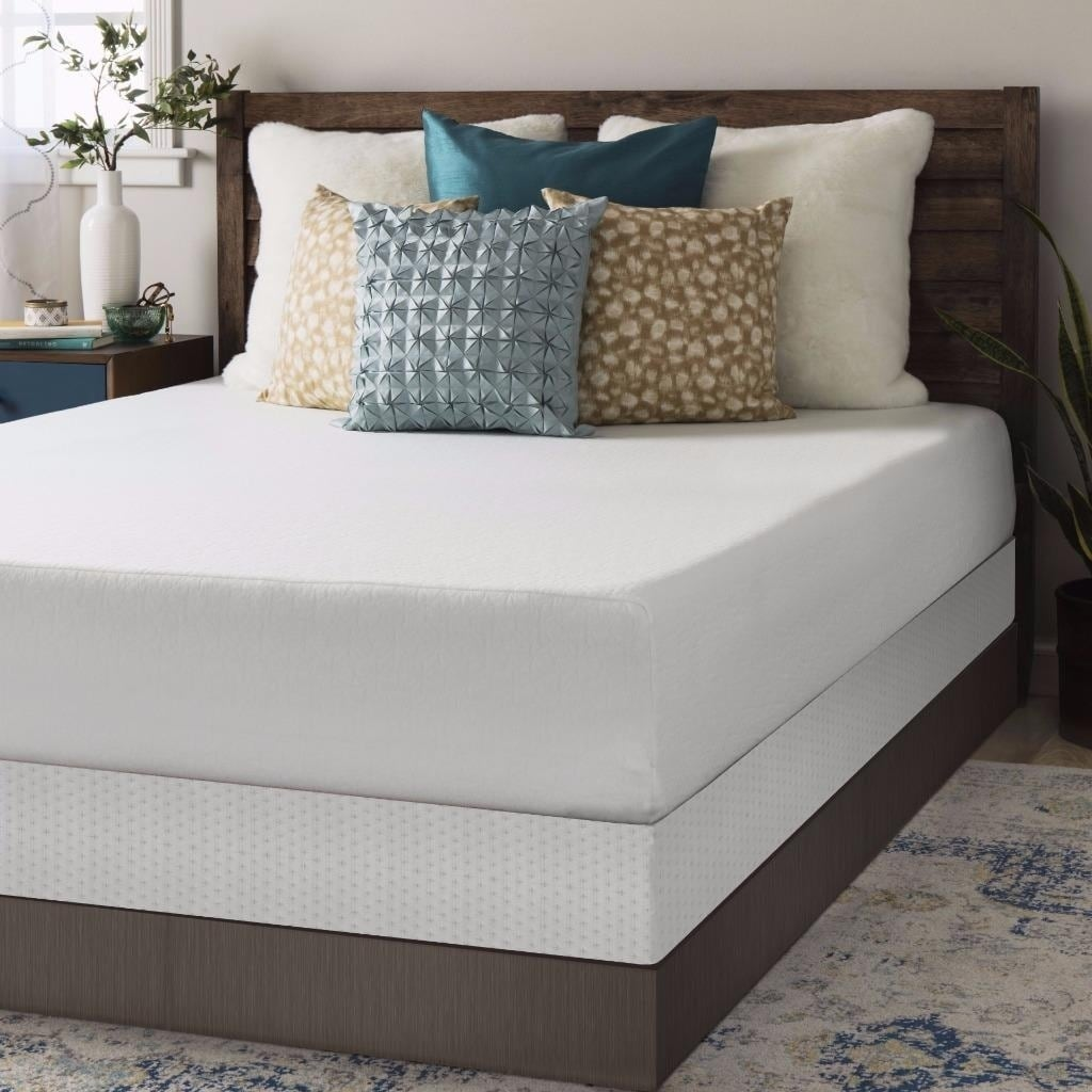 Shop Crown Comfort 10 Inch Memory Foam Mattress And Bi Fold Box