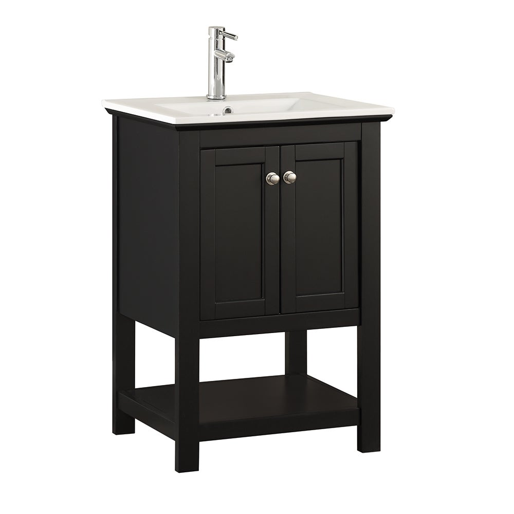 Fresca Manchester 24 Black Traditional Bathroom Vanity Free Shipping Today 17981775