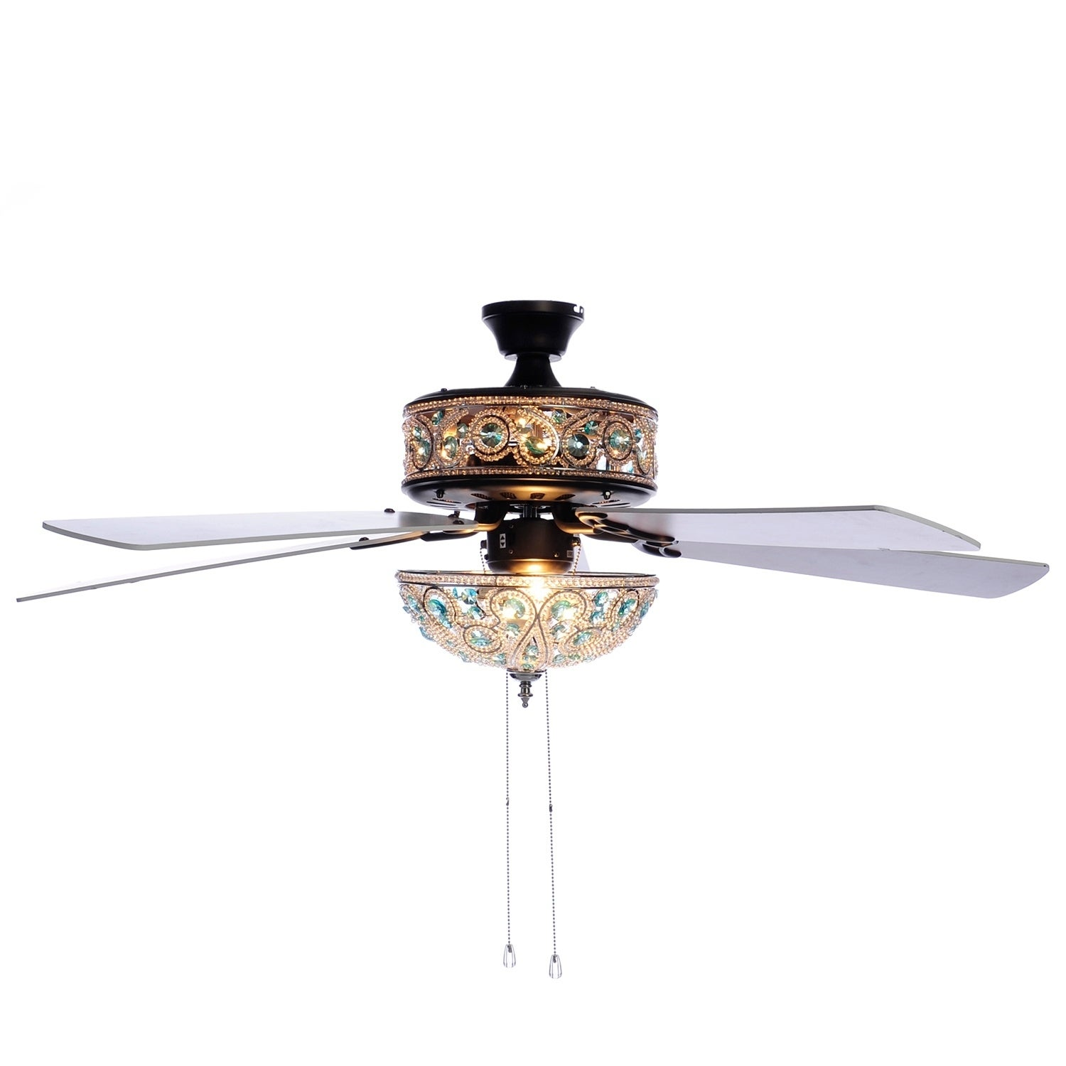 "River of Goods 50"" Chandelier Crystal Ceiling Fan with Remote"