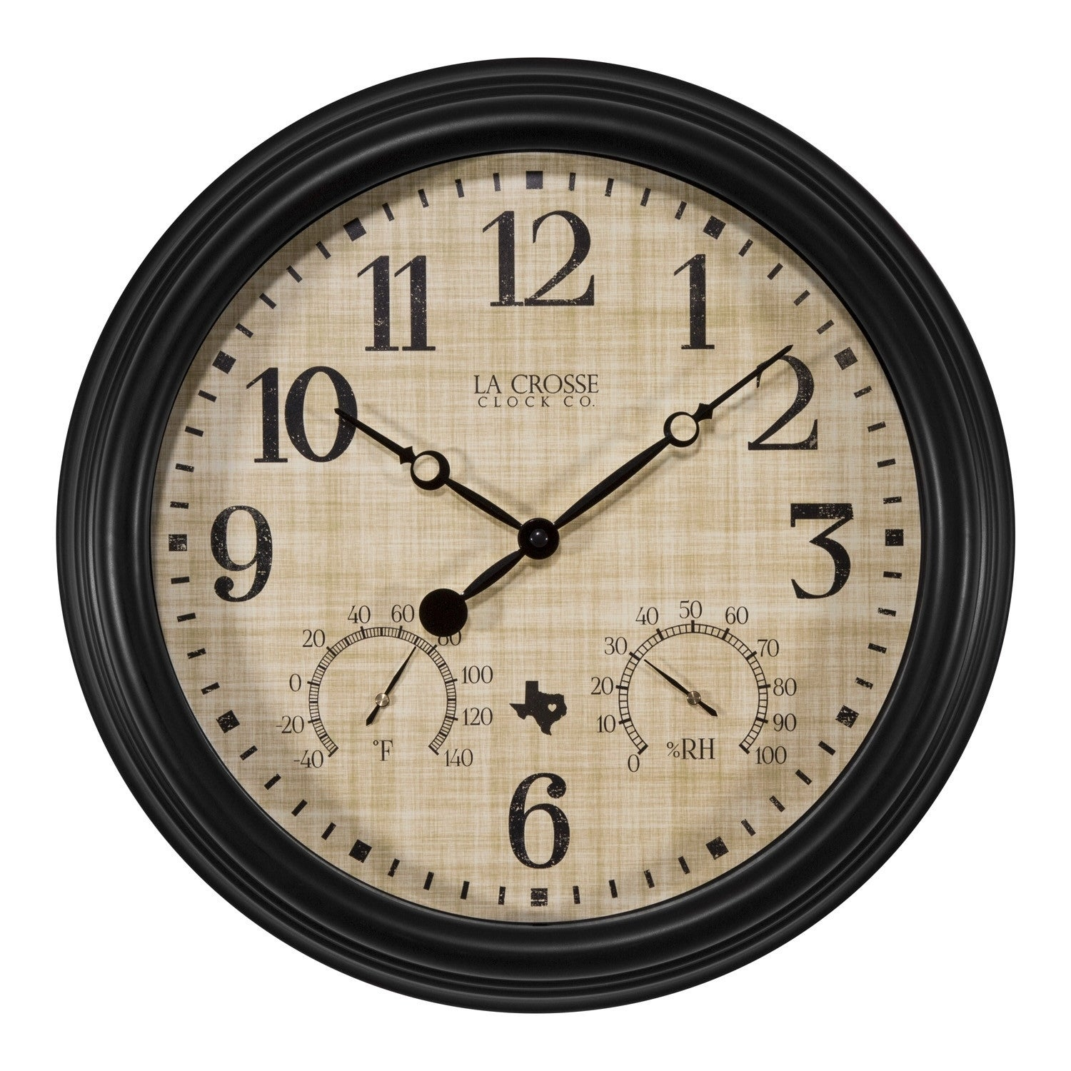 Shop La Crosse Clock 404-3015TX 15 Inch Indoor/Outdoor Texas Quartz Clock  with Temperature and Humidity - Free Shipping On Orders Over $45 -  Overstock.com - ...