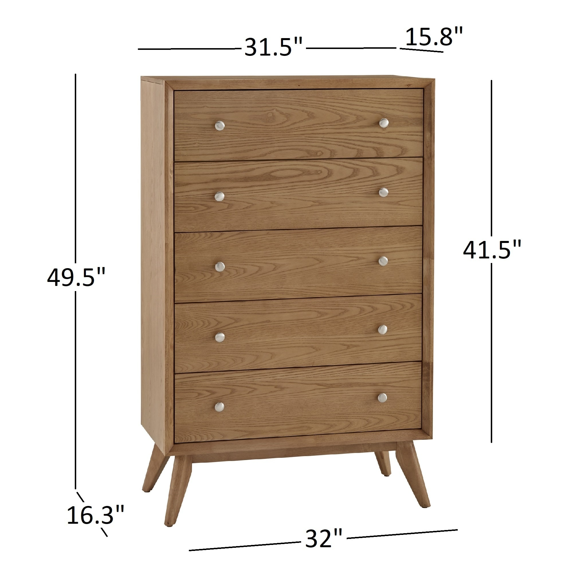Sylvia Mid-Century 5-Drawer Wood Chest by iNSPIRE Q Modern - Free Shipping  Today - Overstock.com - 24157044