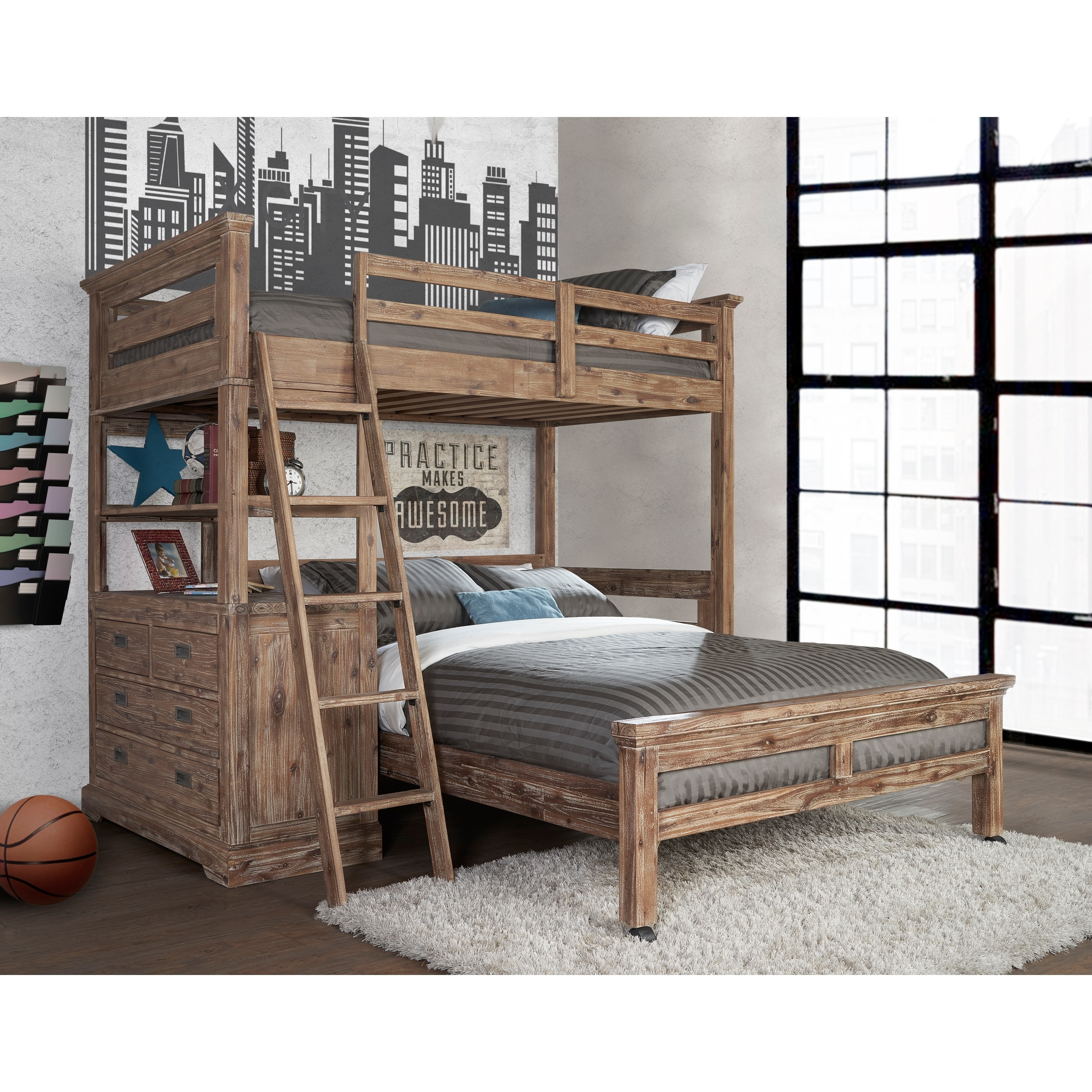 Shop Hillsdale Oxford Twin Loft With 4 Drawer Chest And Full Lower