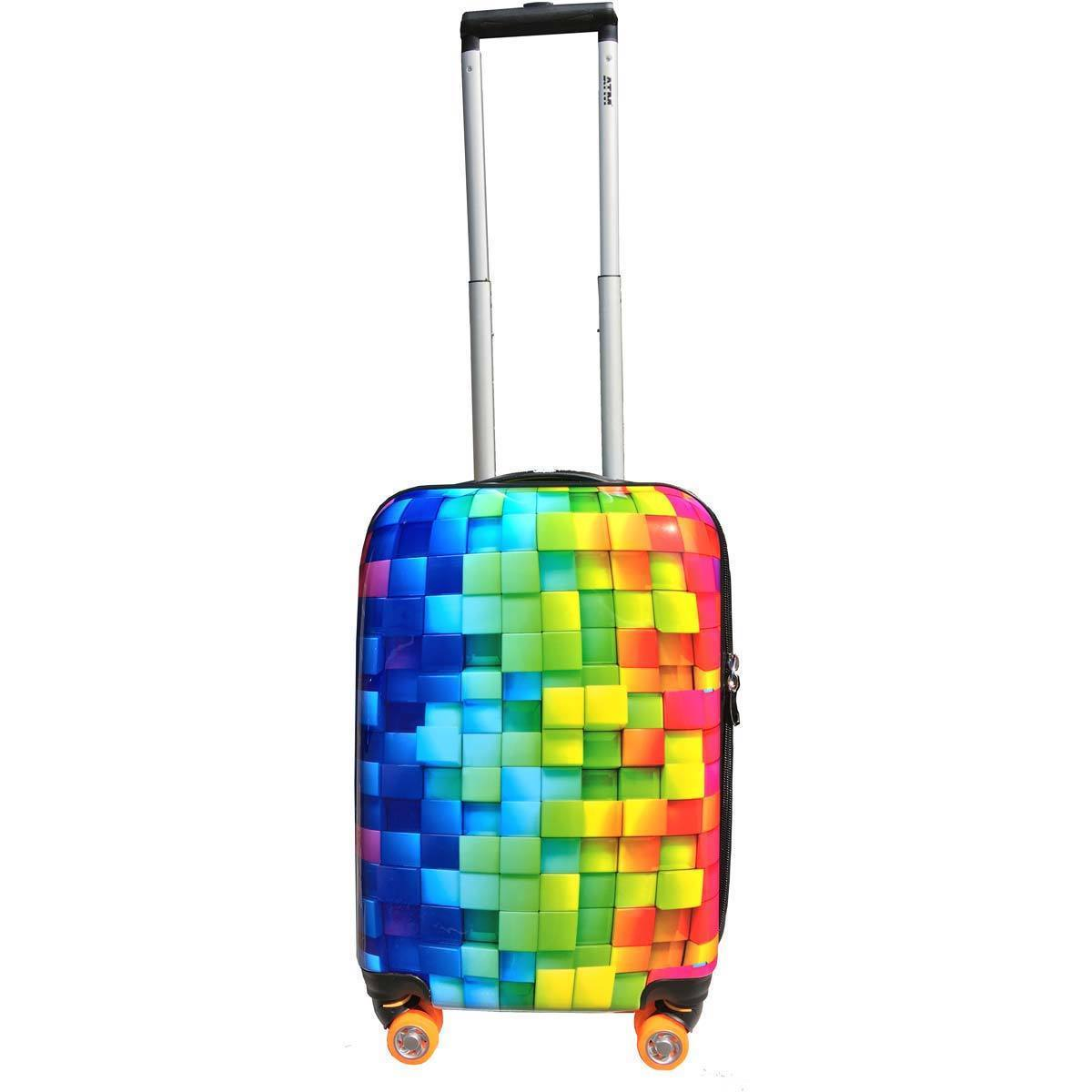 fa3bbdeee Shop ATM Luggage 3-D Rainbow 22-inch Harside Carry On Upright Suitcase -  Free Shipping Today - Overstock - 17983485