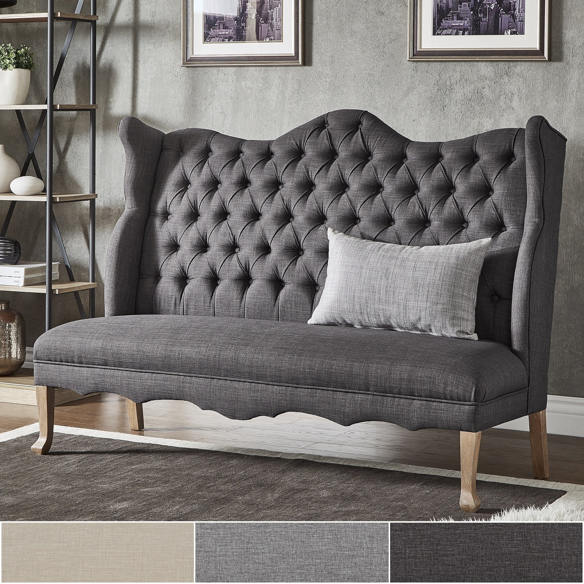 homepop bench product velvet storage and settee tufted
