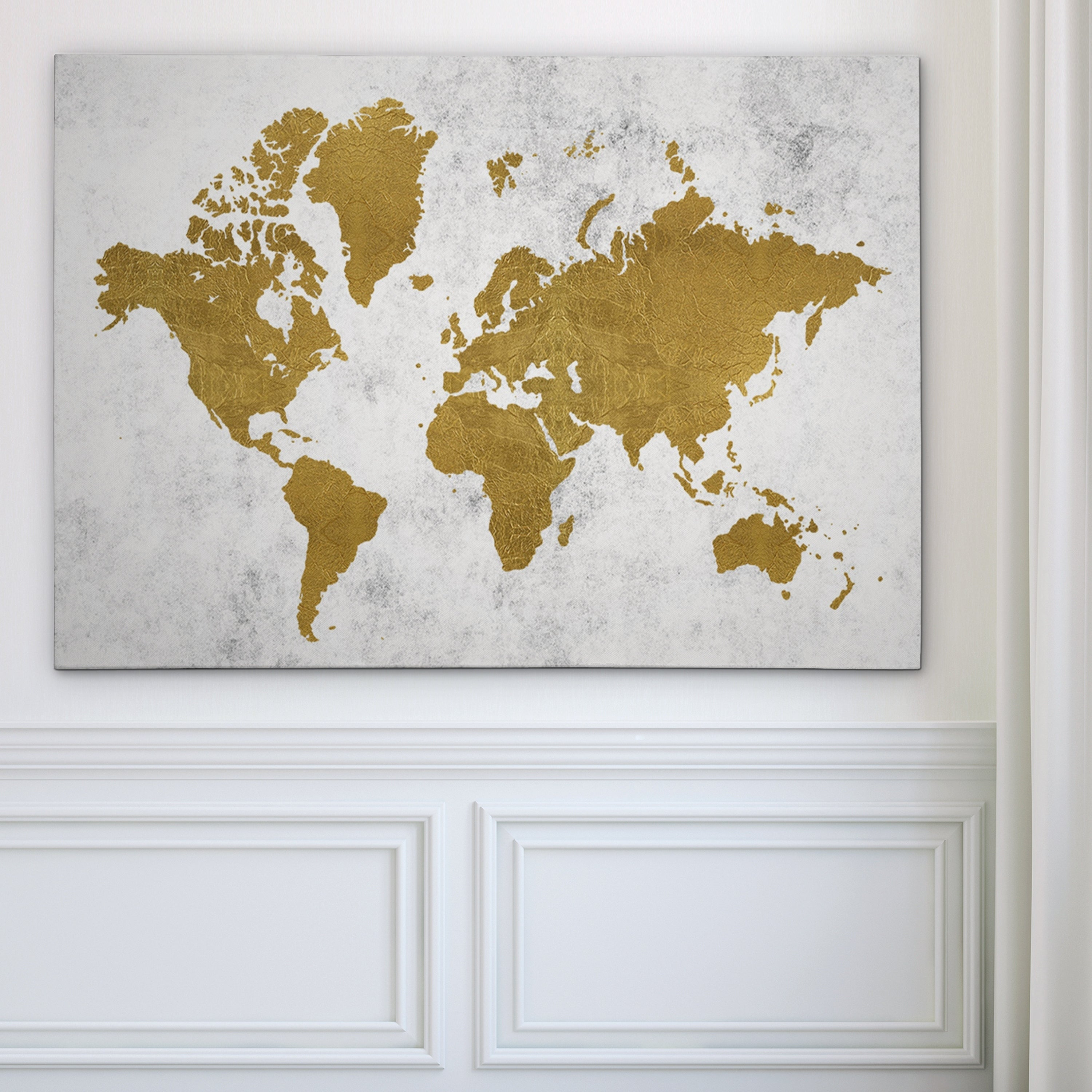 Shop golden world map gallery wrapped canvas on sale free shop golden world map gallery wrapped canvas on sale free shipping today overstock 17990336 gumiabroncs Gallery