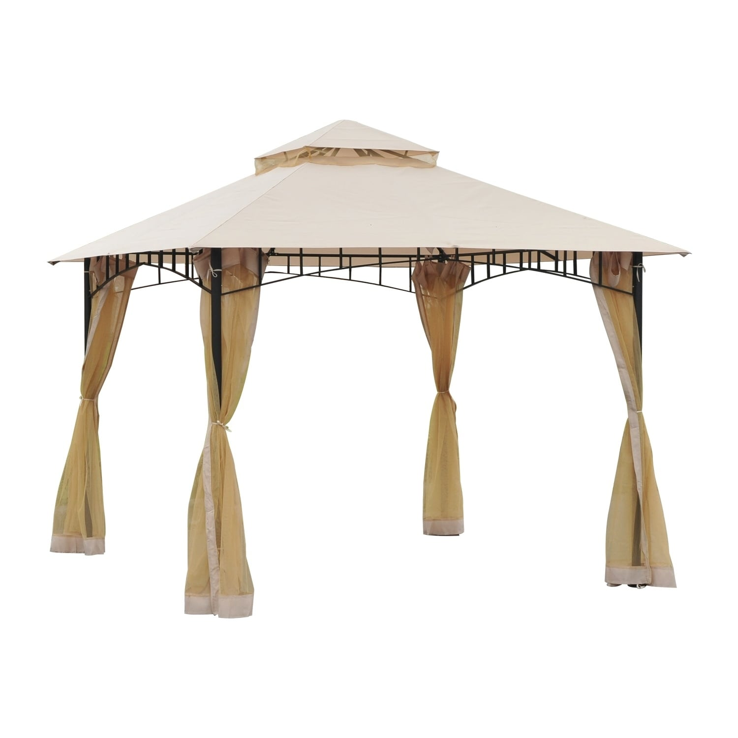 Outsunny 10 X Steel Outdoor Garden Gazebo With Mosquito Netting On Free Shipping Today 17990813