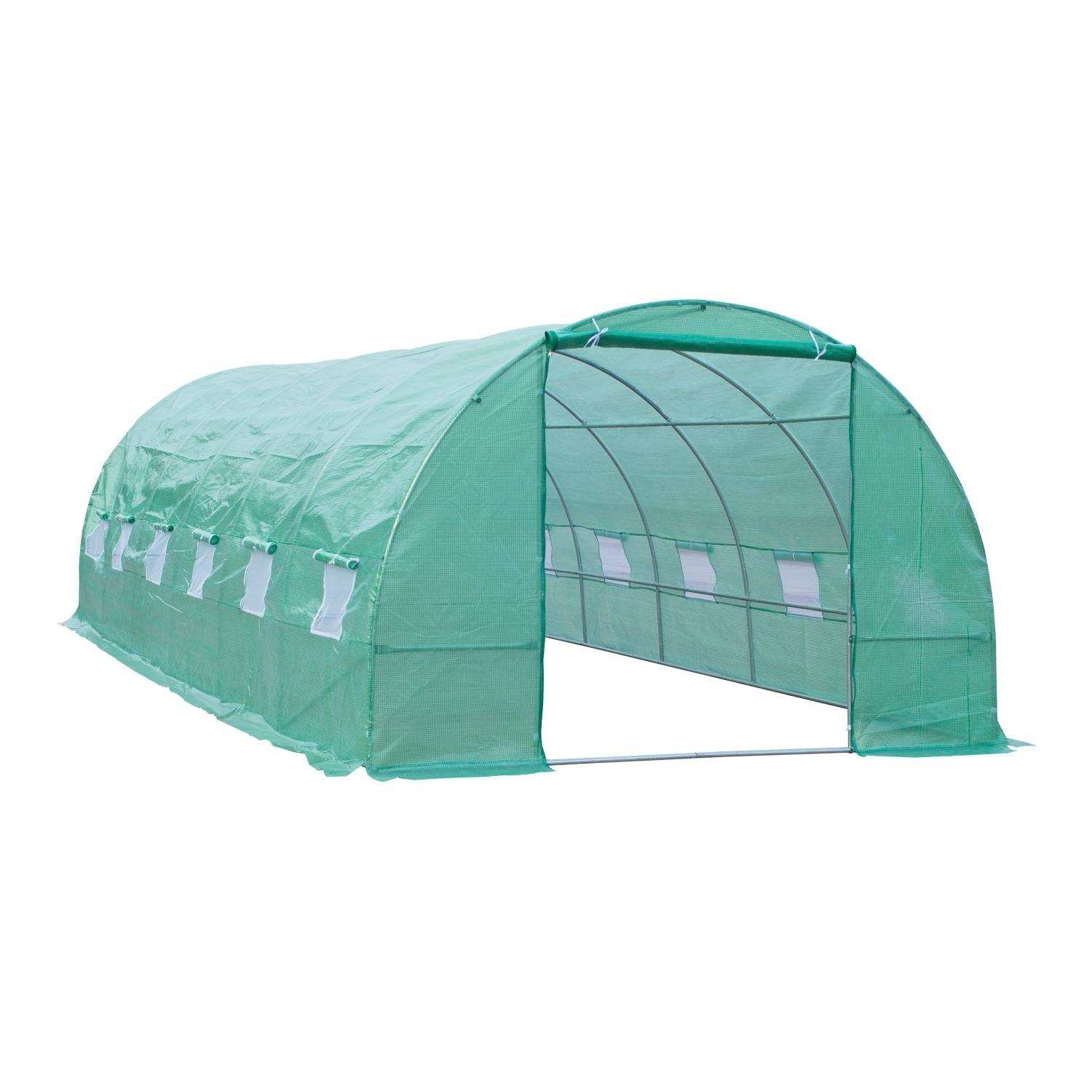 Shop Outsunny 26 ft x 10 ft x 7 ft Portable Walk-In Garden ...