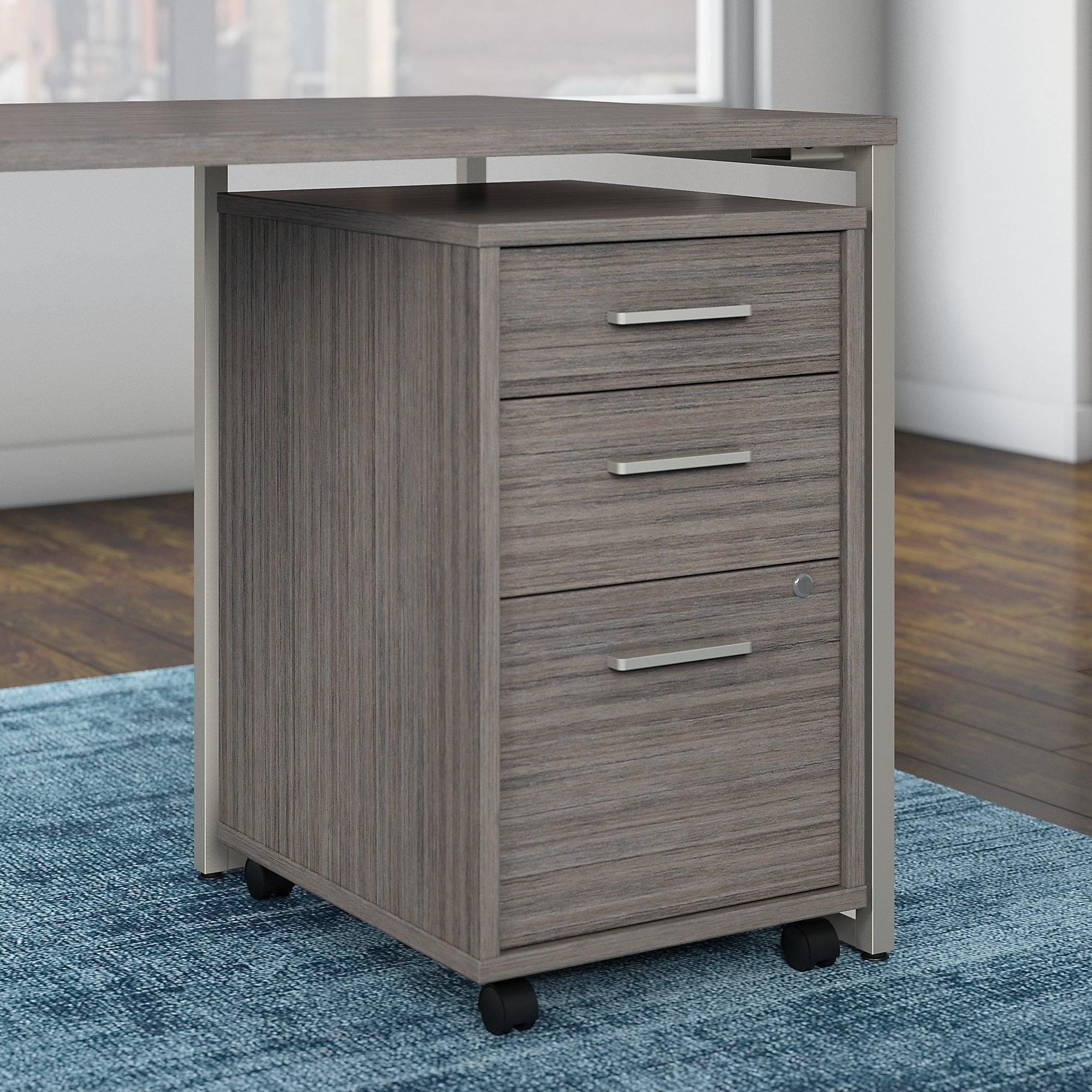 Shop office by kathy ireland method 3 drawer mobile file cabinet assembled free shipping today overstock com 17994596