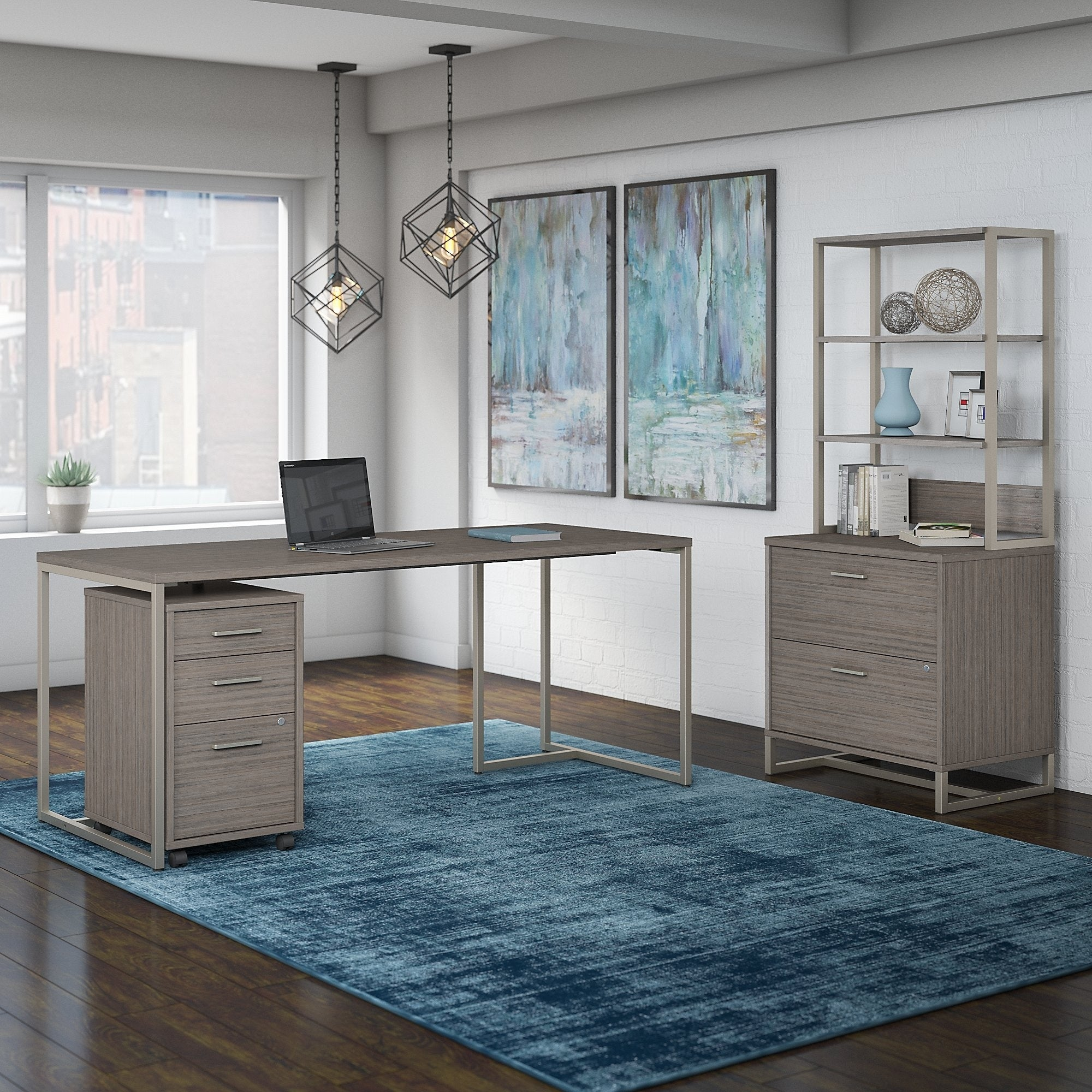 Shop Office by kathy ireland Method 72W Table Desk with File ...