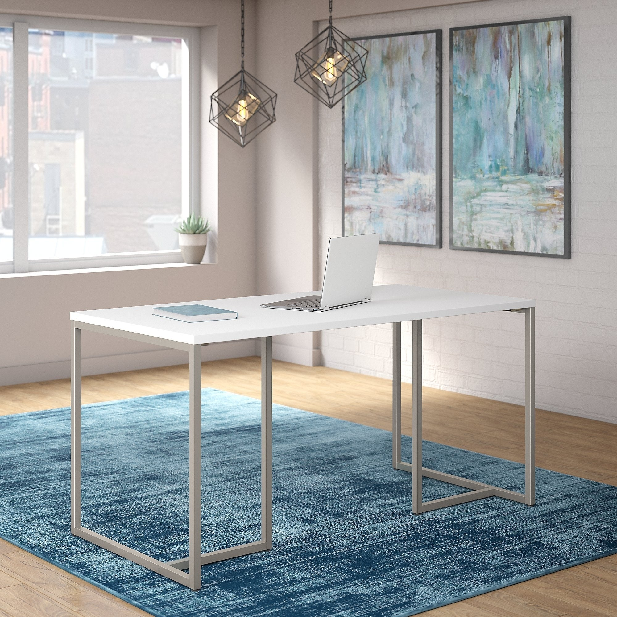 Office by kathy ireland method 60w table desk in white
