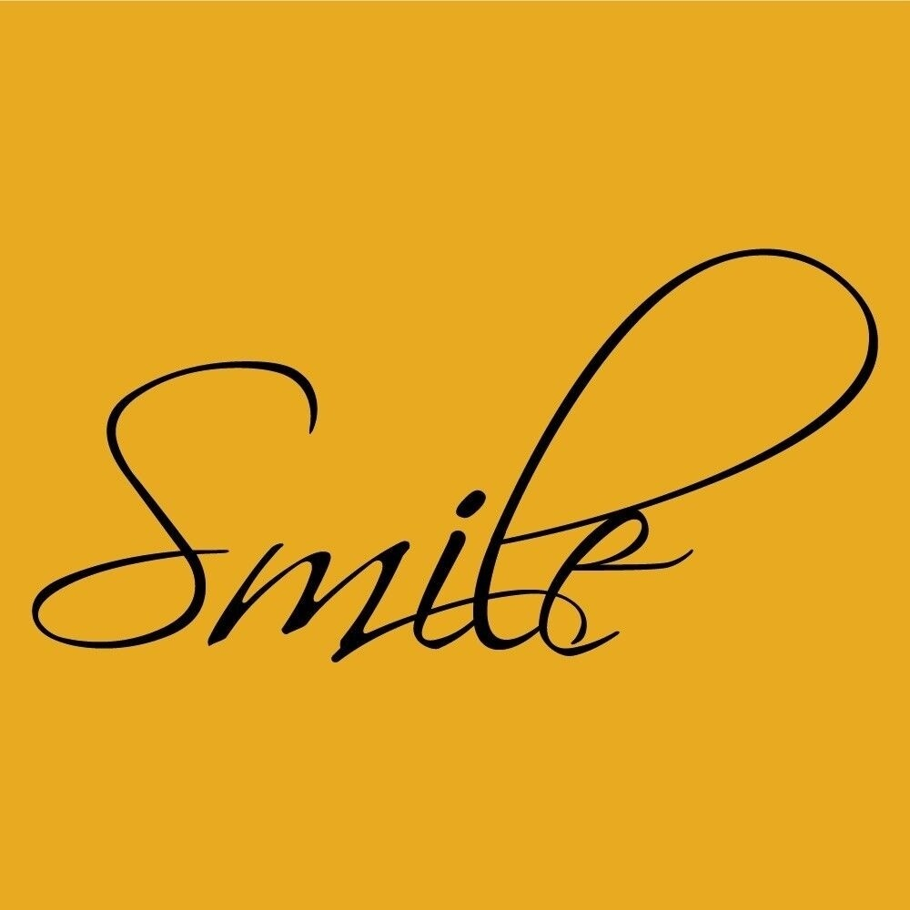 Shop Smile wall Vinyl Sticker Decal quote Decor Cute Happy 12 x 7 ...