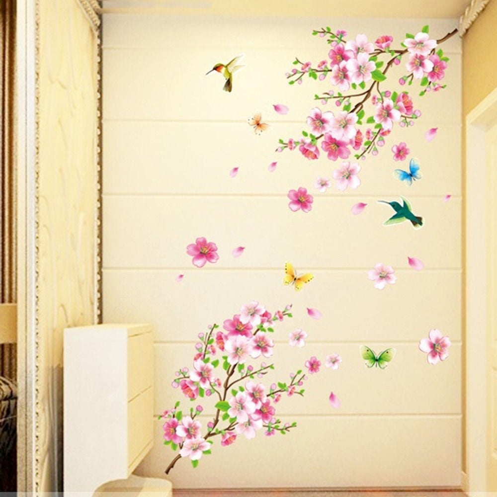 Shop Cherry Blossom Tree Wall Sticker Vinyl Art Mural Diy Decals W