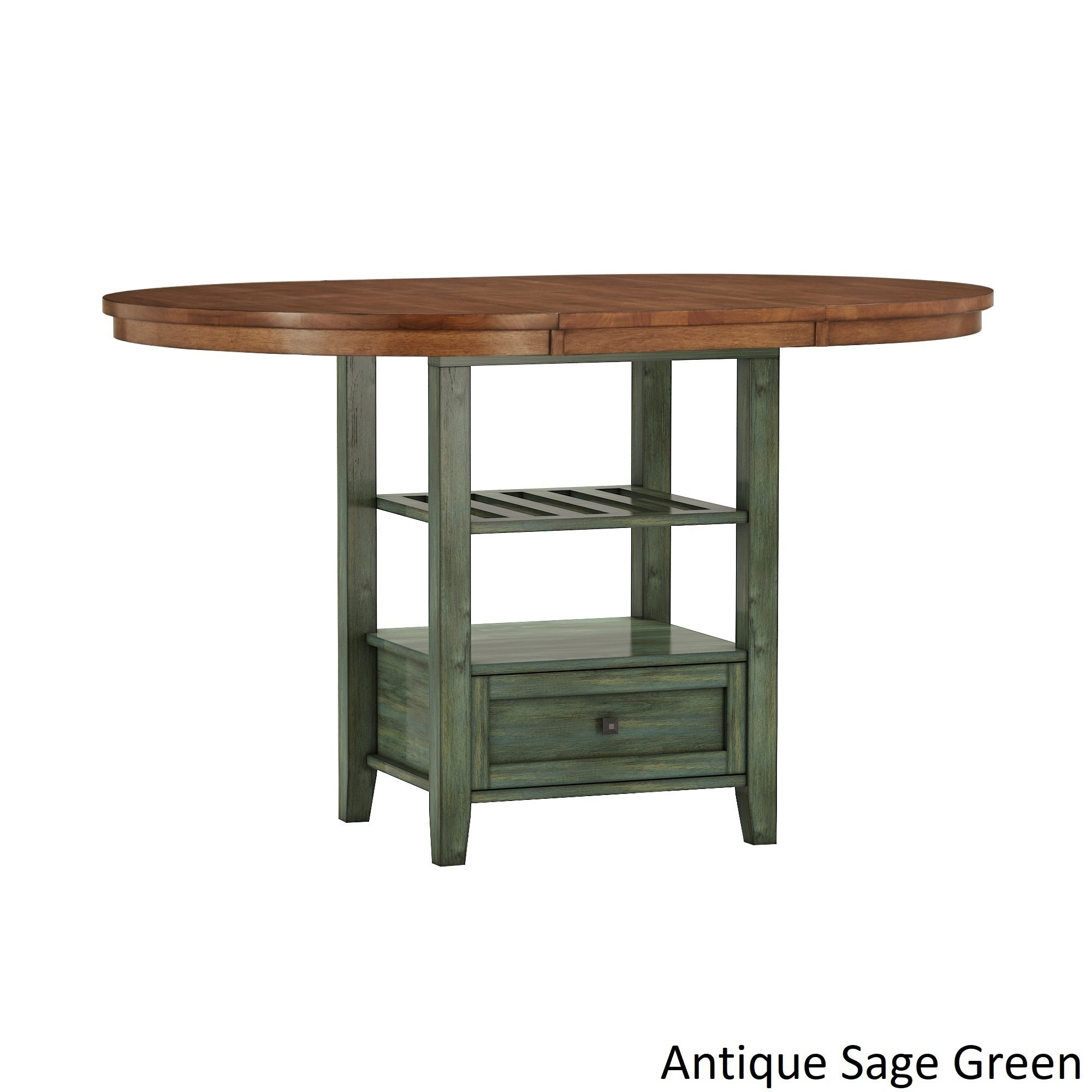 Shop Eleanor Solid Wood Oval Extendable Counter Height Pedestal Base Dining  Table By INSPIRE Q Classic   On Sale   Free Shipping Today   Overstock.com    ...