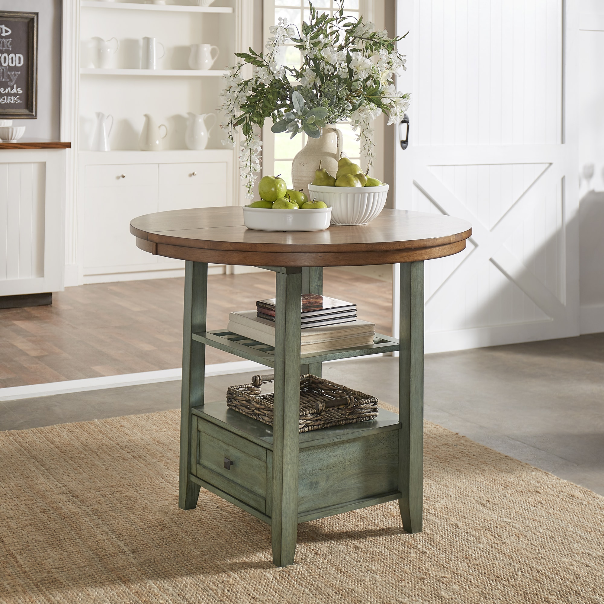 Eleanor Solid Wood Oval Extendable Counter Height Pedestal Base Dining Table  from iNSPIRE Q Classic - Free Shipping Today - Overstock.com - 24171277