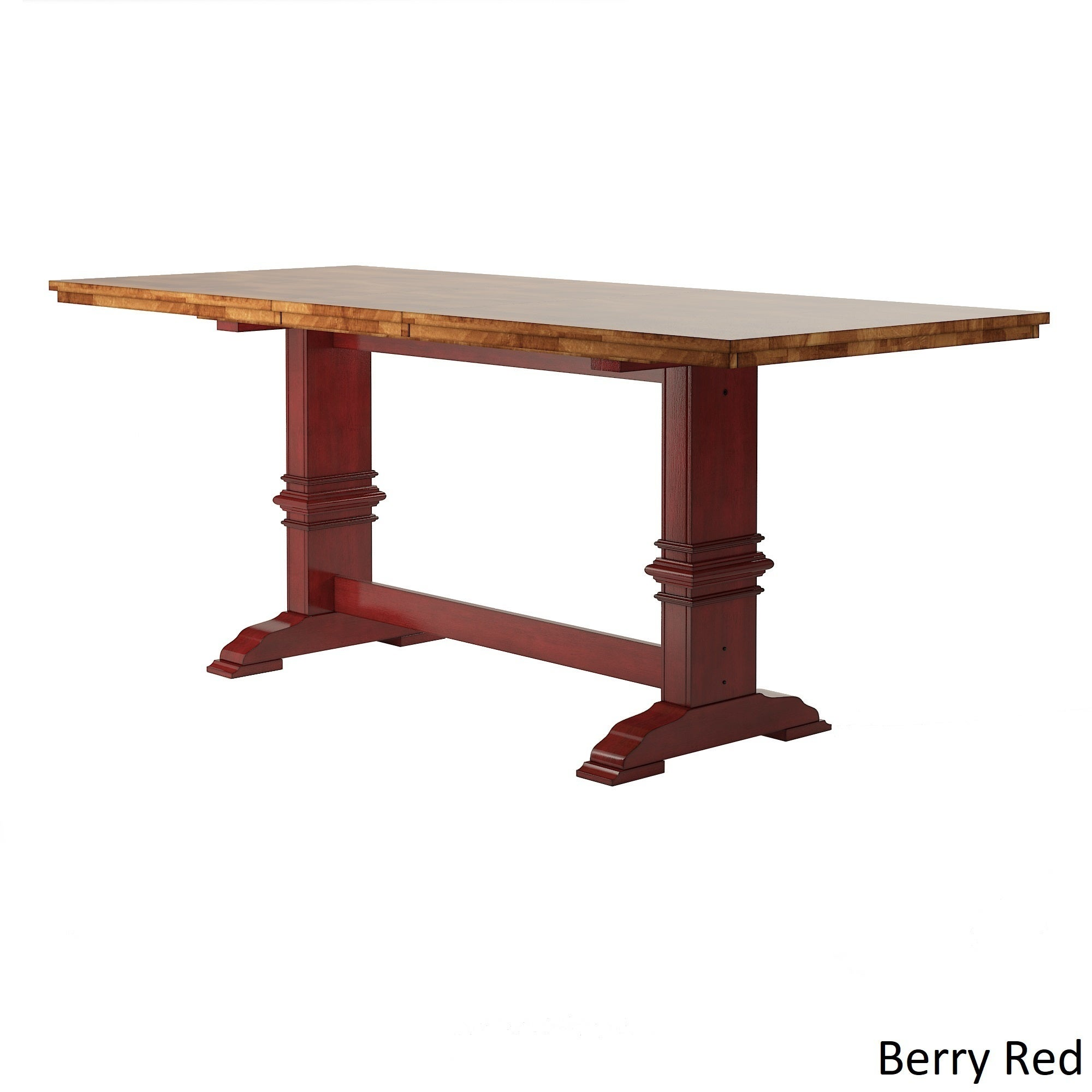 Shop Eleanor Solid Wood Counter Height Trestle Base Dining Table By INSPIRE  Q Classic   Free Shipping Today   Overstock.com   17999921