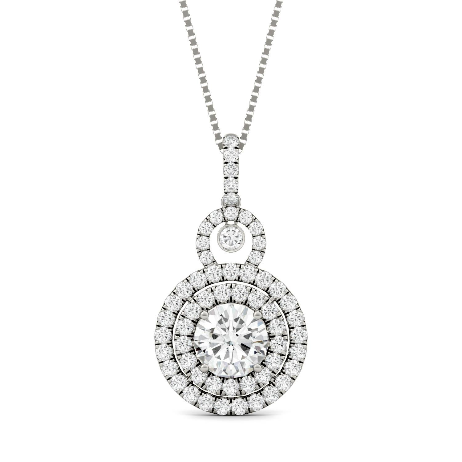 charles circle in sterling tgw stunning necklace moissanite classic displays round pin this colvard pendant silver a cut
