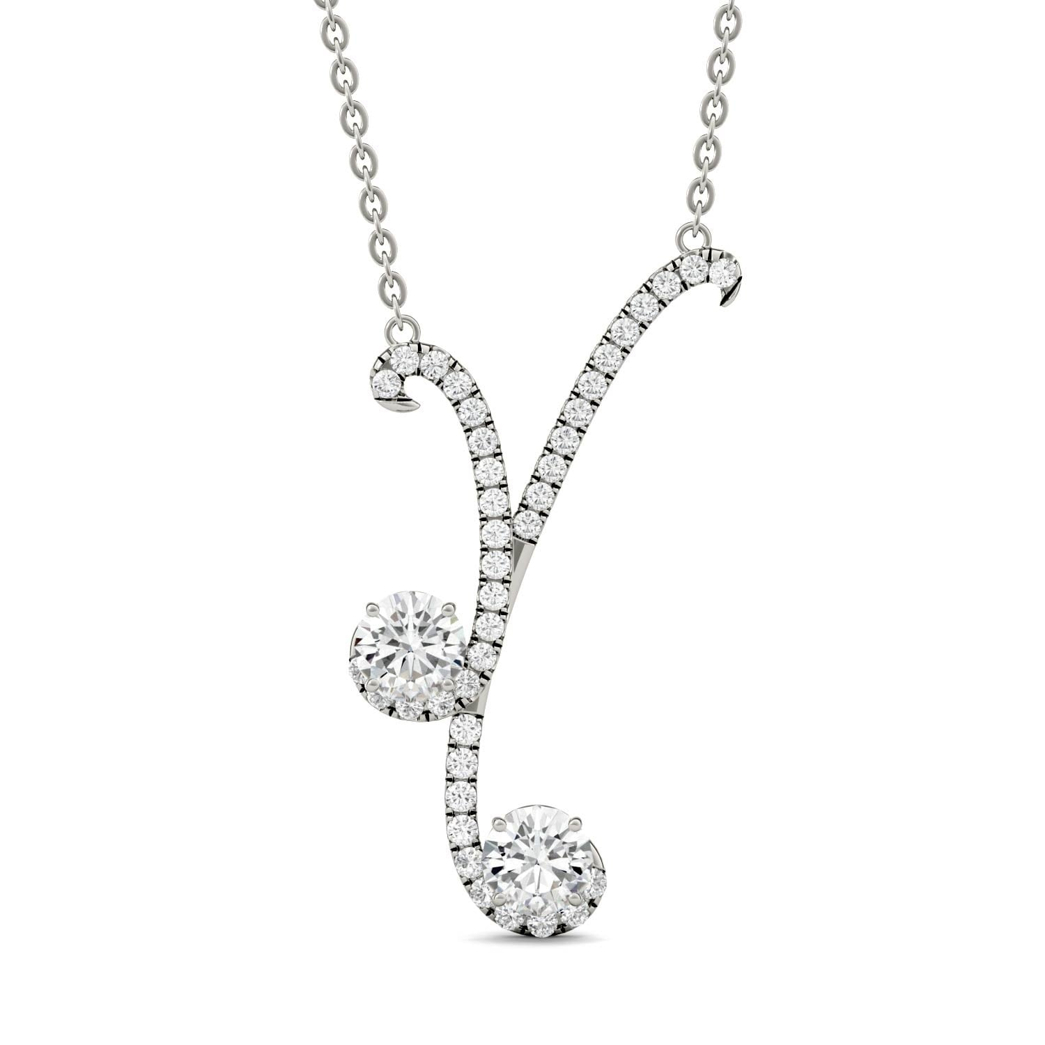 pendant necklace chain cushion moissanite with p