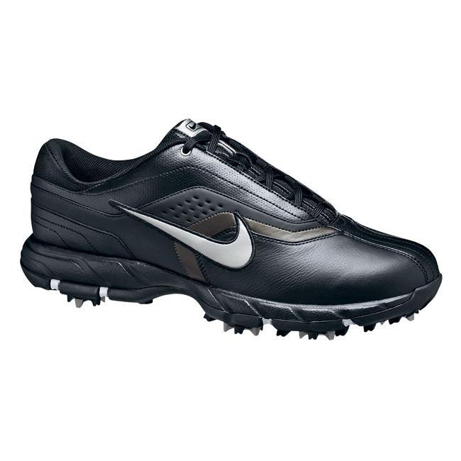 sports shoes d24c2 63cb9 Shop Nike Mens Air Tour Sport Black Silver Golf Shoes - Free Shipping  Today - - 4332909