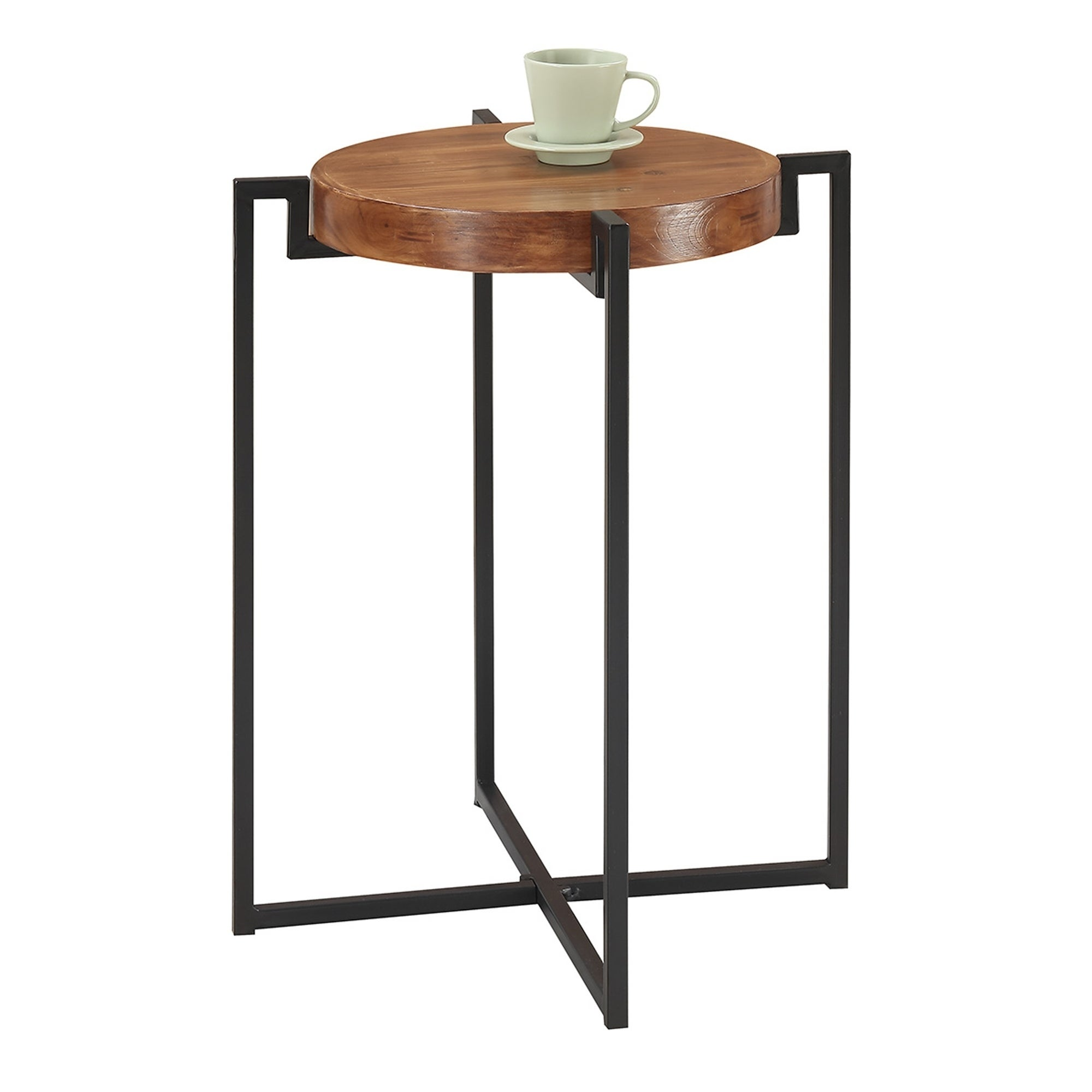 Shop Convenience Concepts Nordic Round Tray End Table   Free Shipping Today    Overstock.com   18000010
