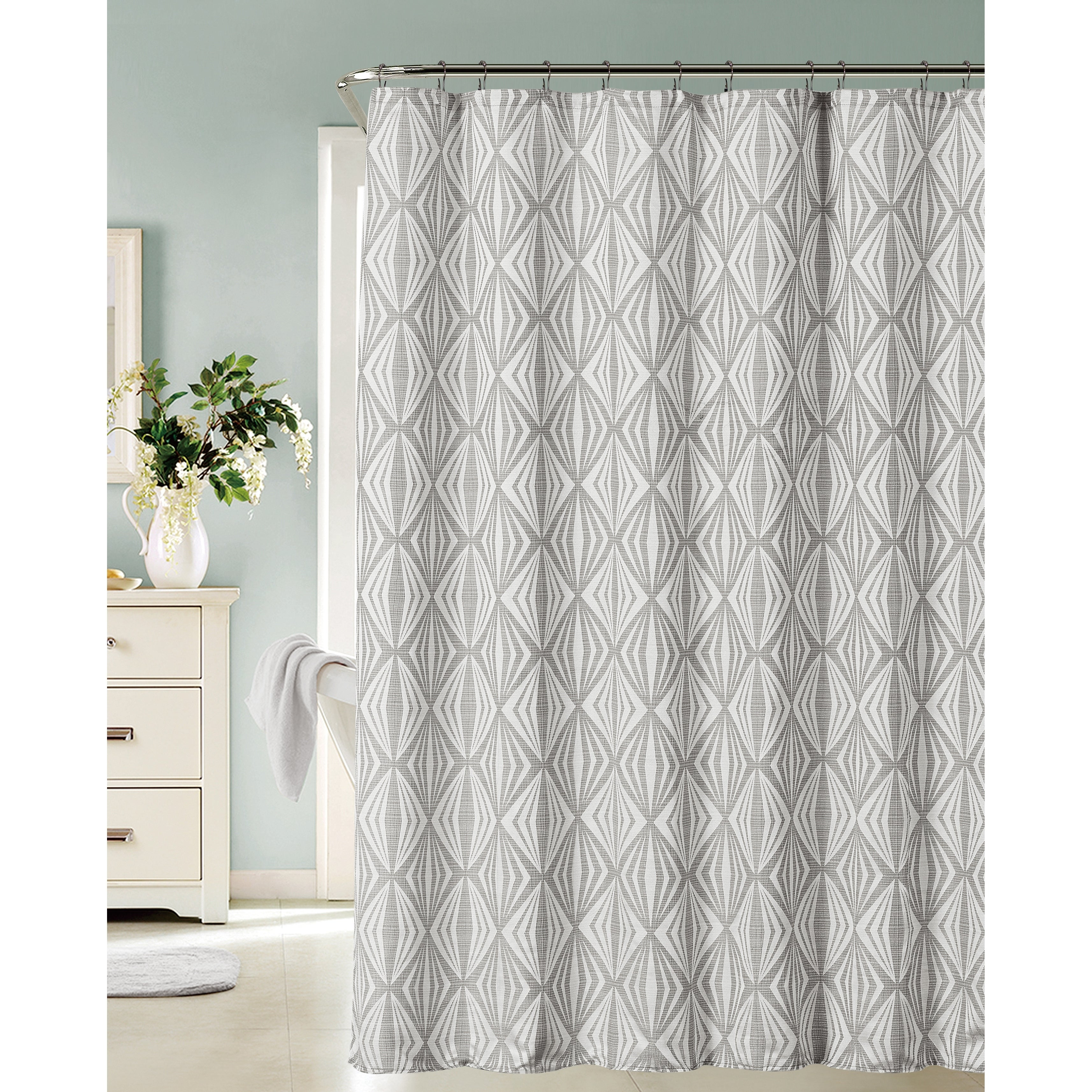 Shop Dainty Home Romance Shower Curtain In Silver