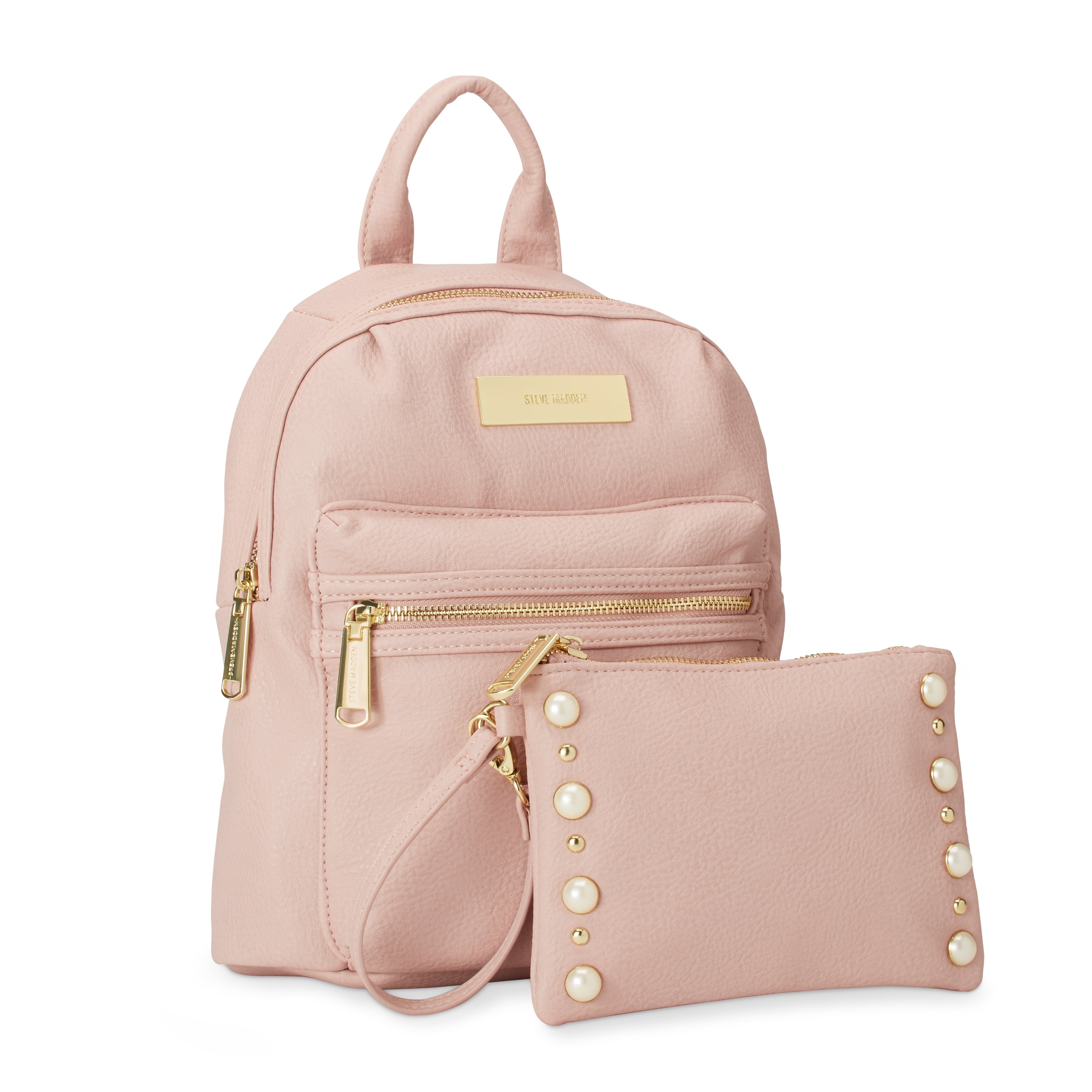 cbb90aa832 Shop Steve Madden BKris Mini Fashion Backpack w/Pearl Pouch - Free Shipping  On Orders Over $45 - Overstock - 18000688