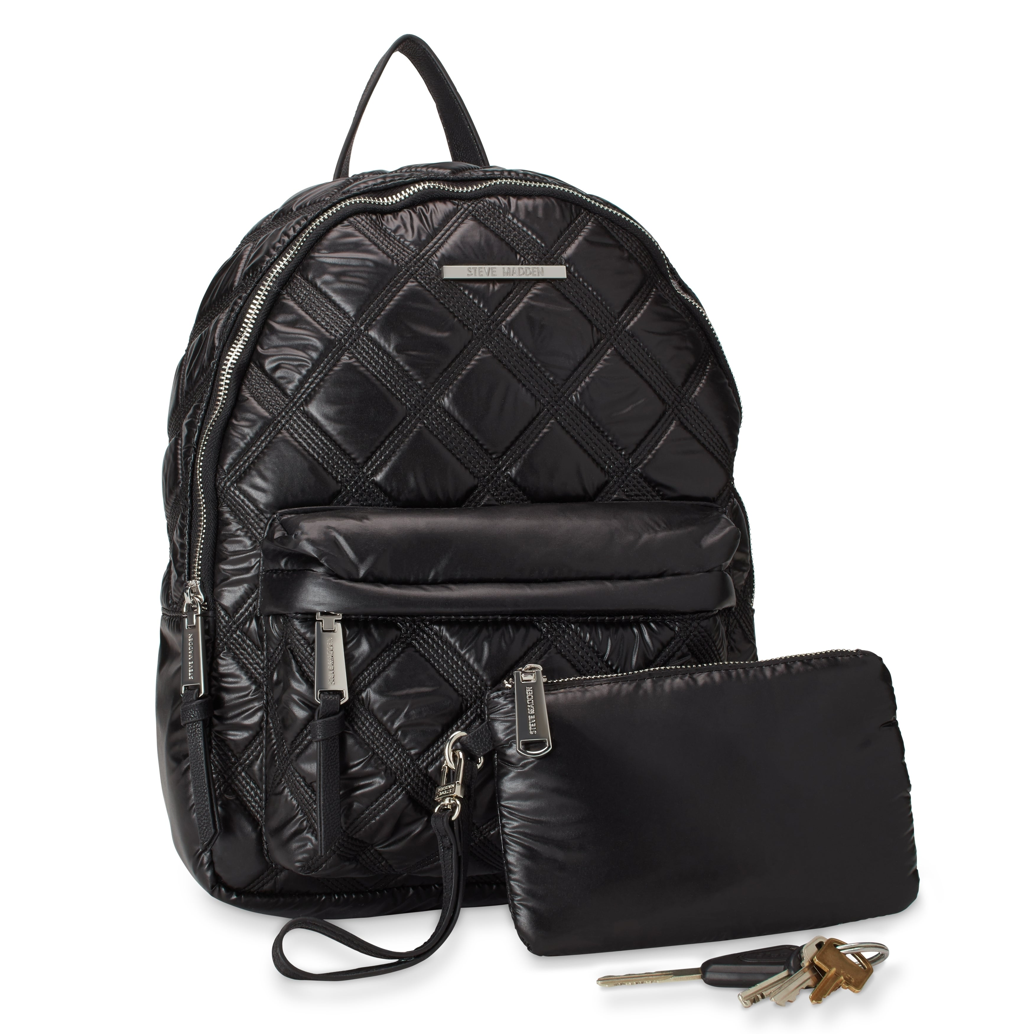 dd543a93af Shop Steve Madden BNyla Triple-Stitch Nylon Fashion Backpack - Free  Shipping On Orders Over $45 - Overstock - 18000690